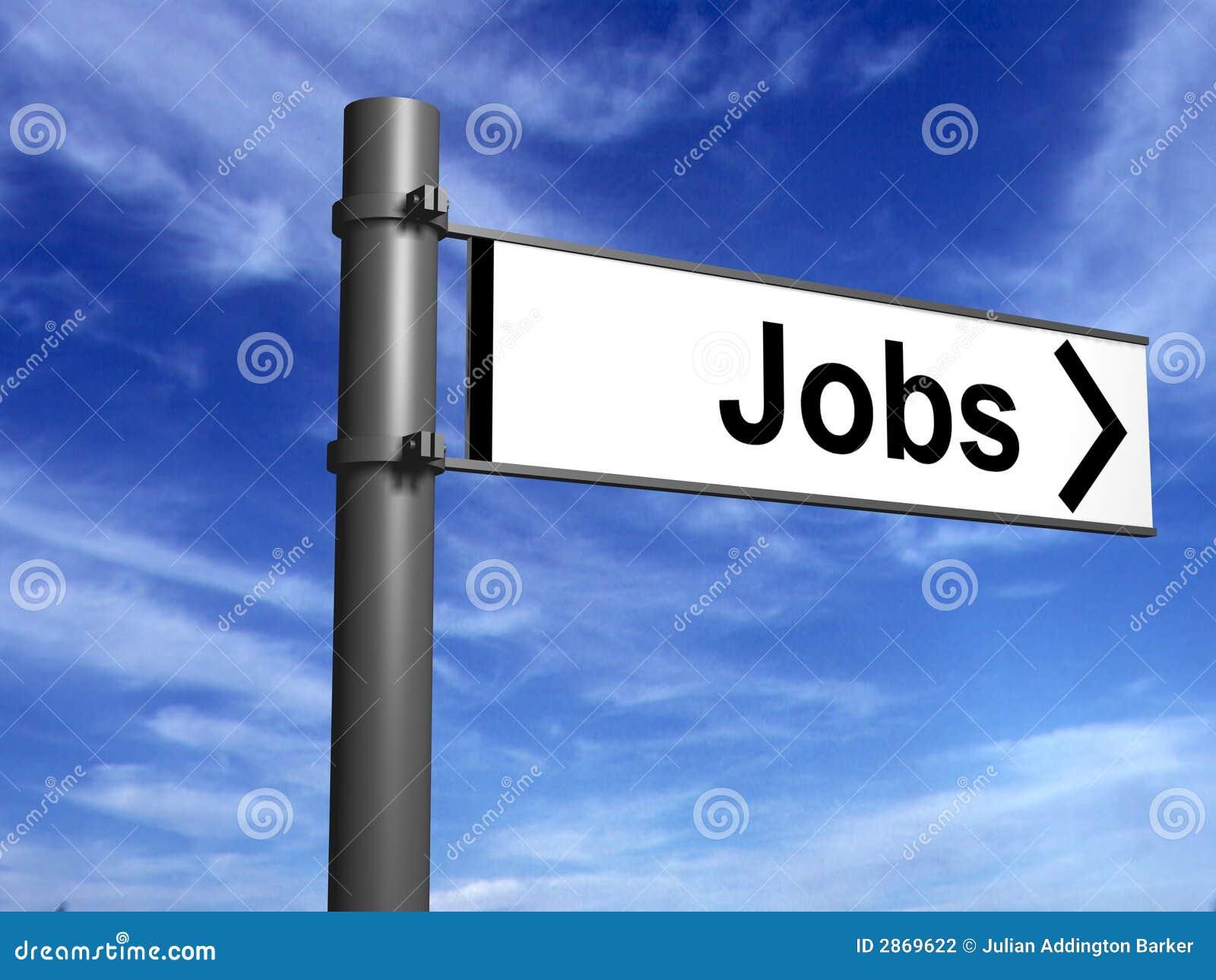 Poste indicador a los nuevos trabajos