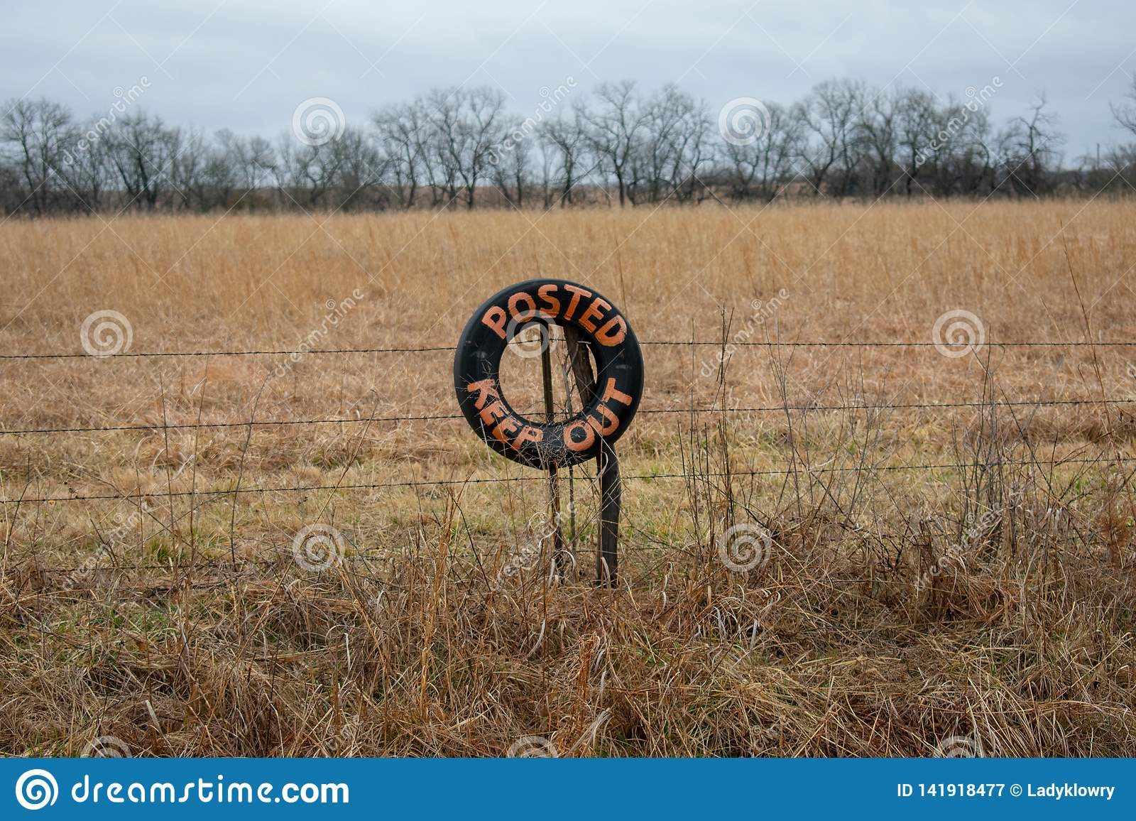 Posted maintenir le signe dans la ferme de champ