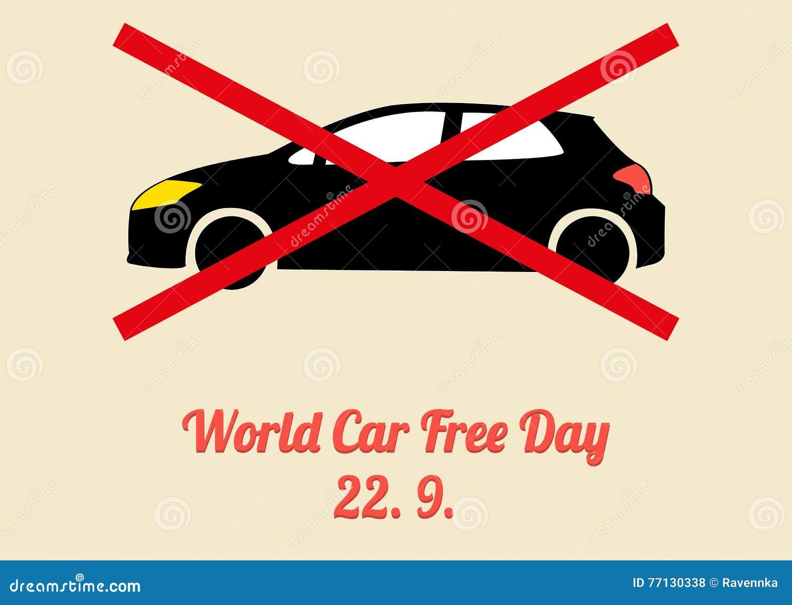 Poster for Annual Celebration of World Car Free Day - September Stock  Vector - Illustration of retro, leaflet: 77130338