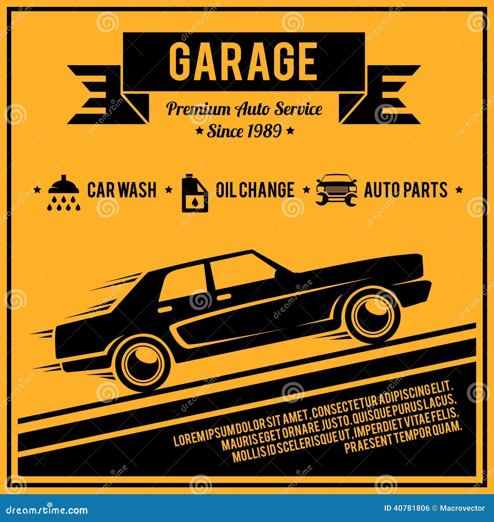 car garage logo ideas - Poster Auto Service Stock Vector Image