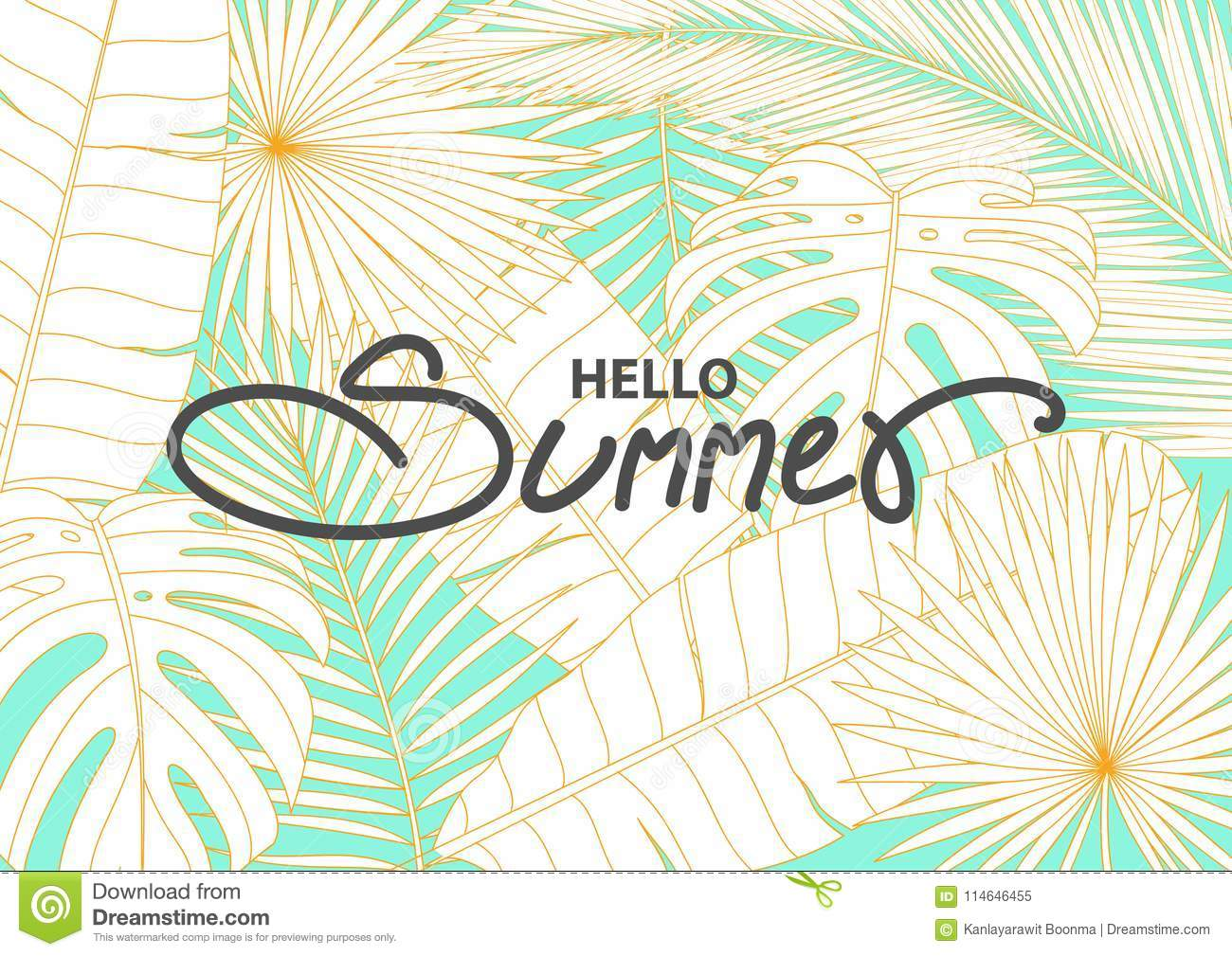 banner template for summer event stock vector illustration of