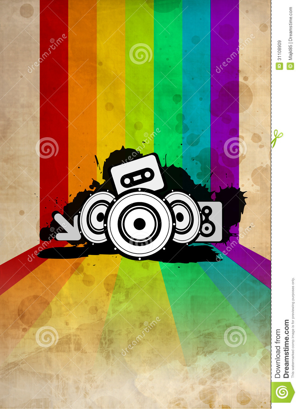 80s poster design - Royalty Free Stock Photo