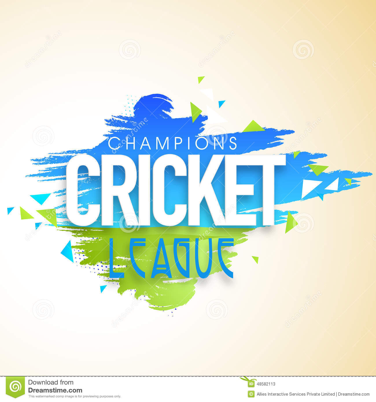 Poster Or Banner Design For Cricket Champions League Stock