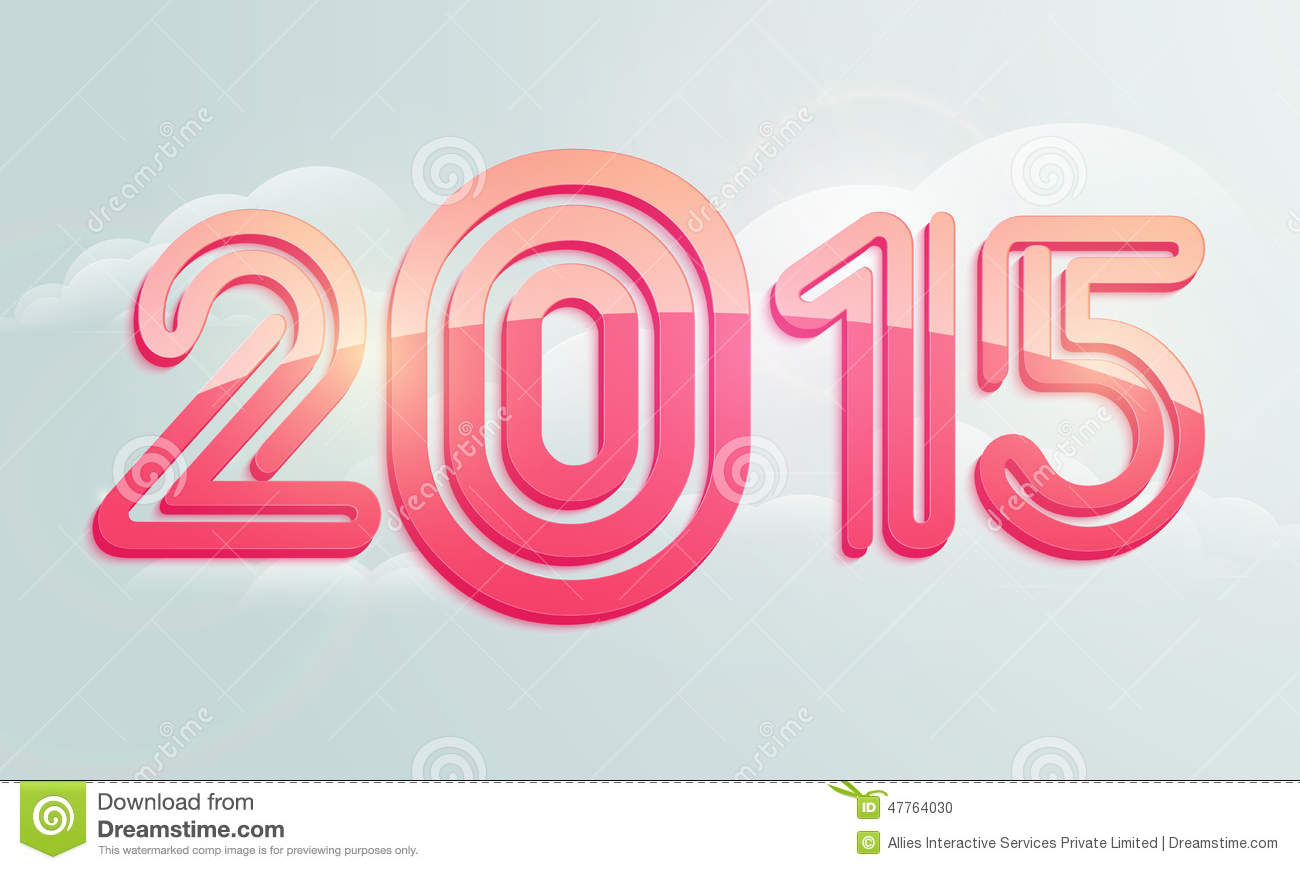 poster or banner design for happy new year 2015