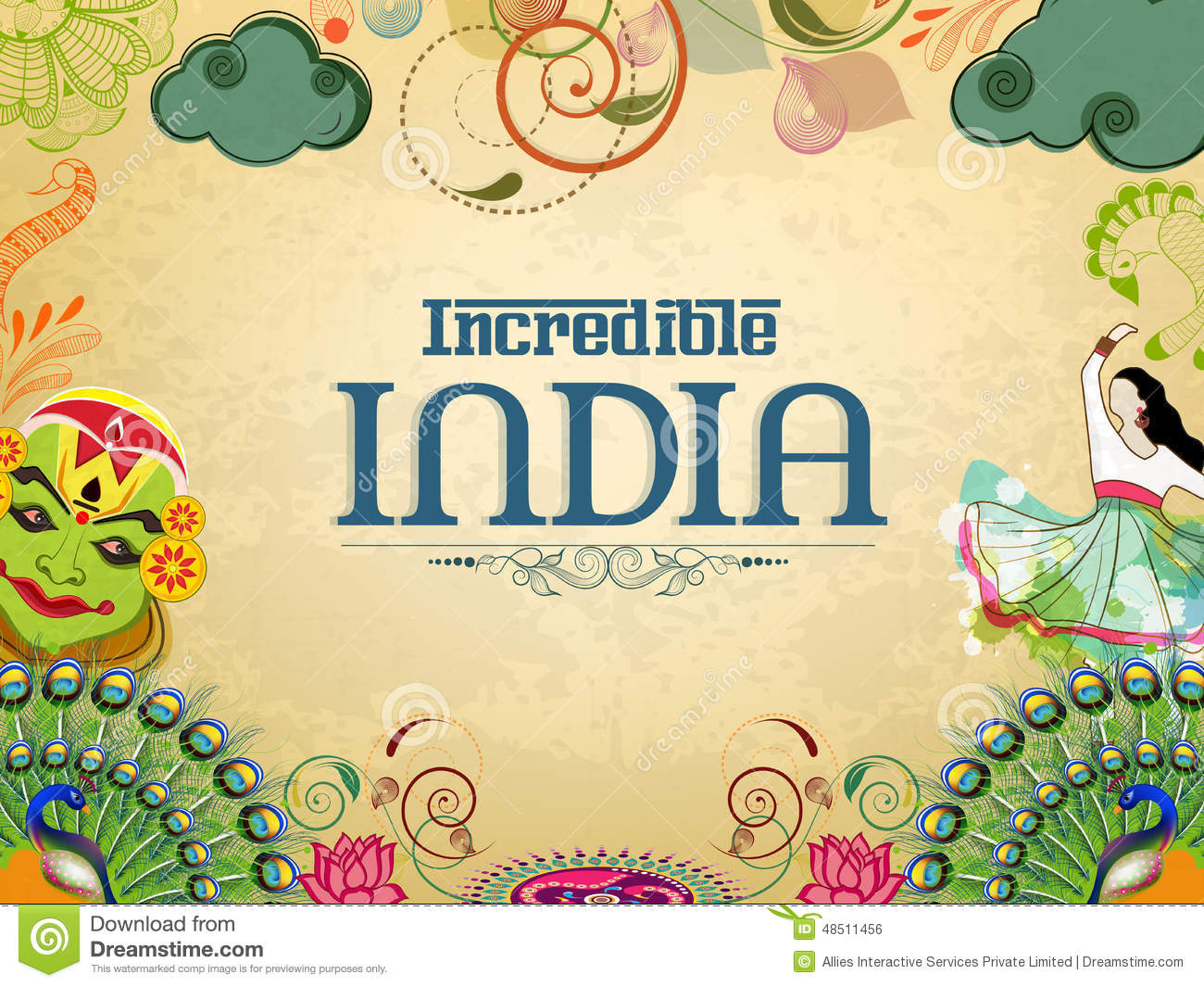Poster Or Banner Design Of Incredible India. Stock Illustration ...