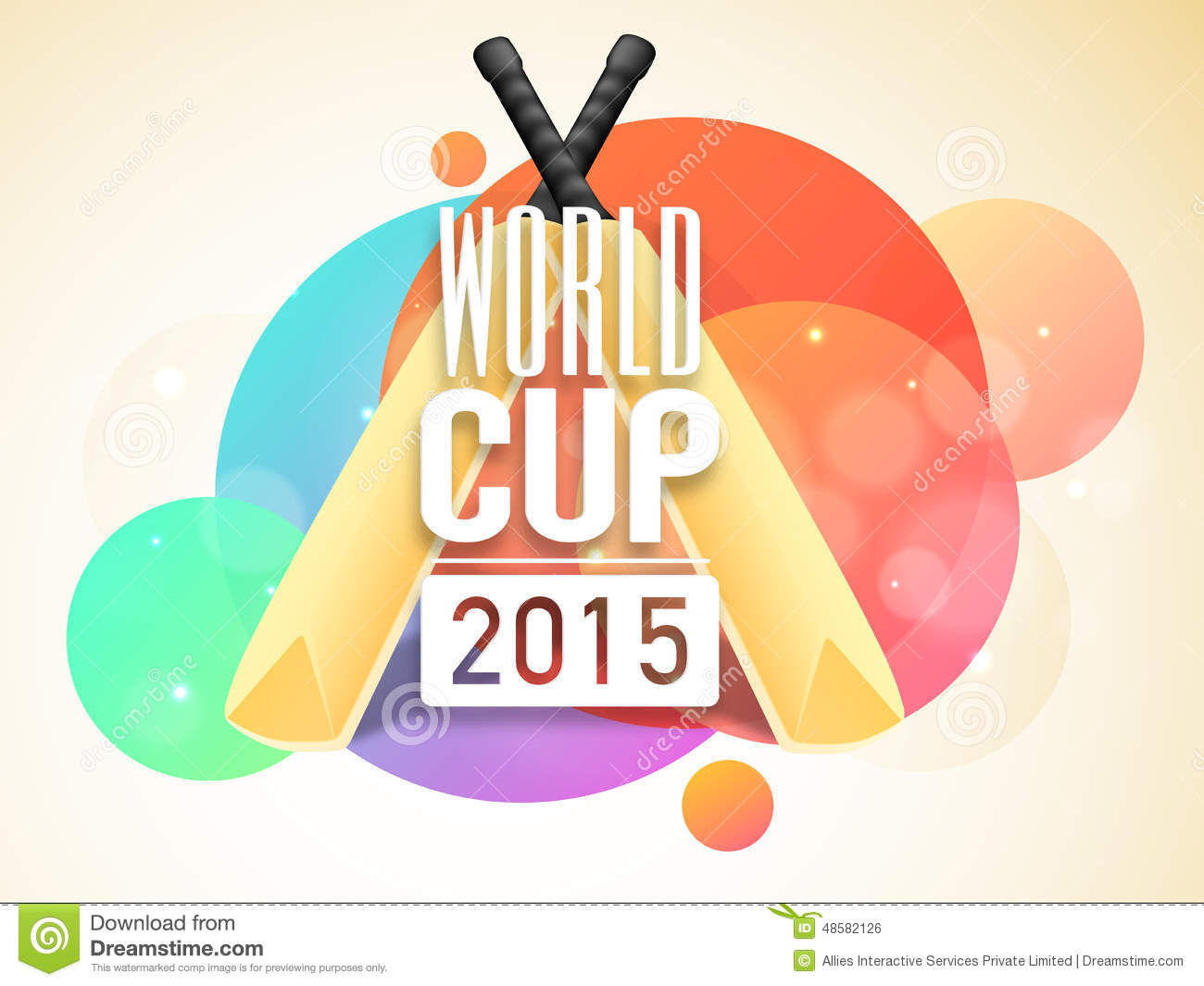 Poster design 2015 - Poster Or Banner Design For World Cup 2015 Royalty Free Stock Image
