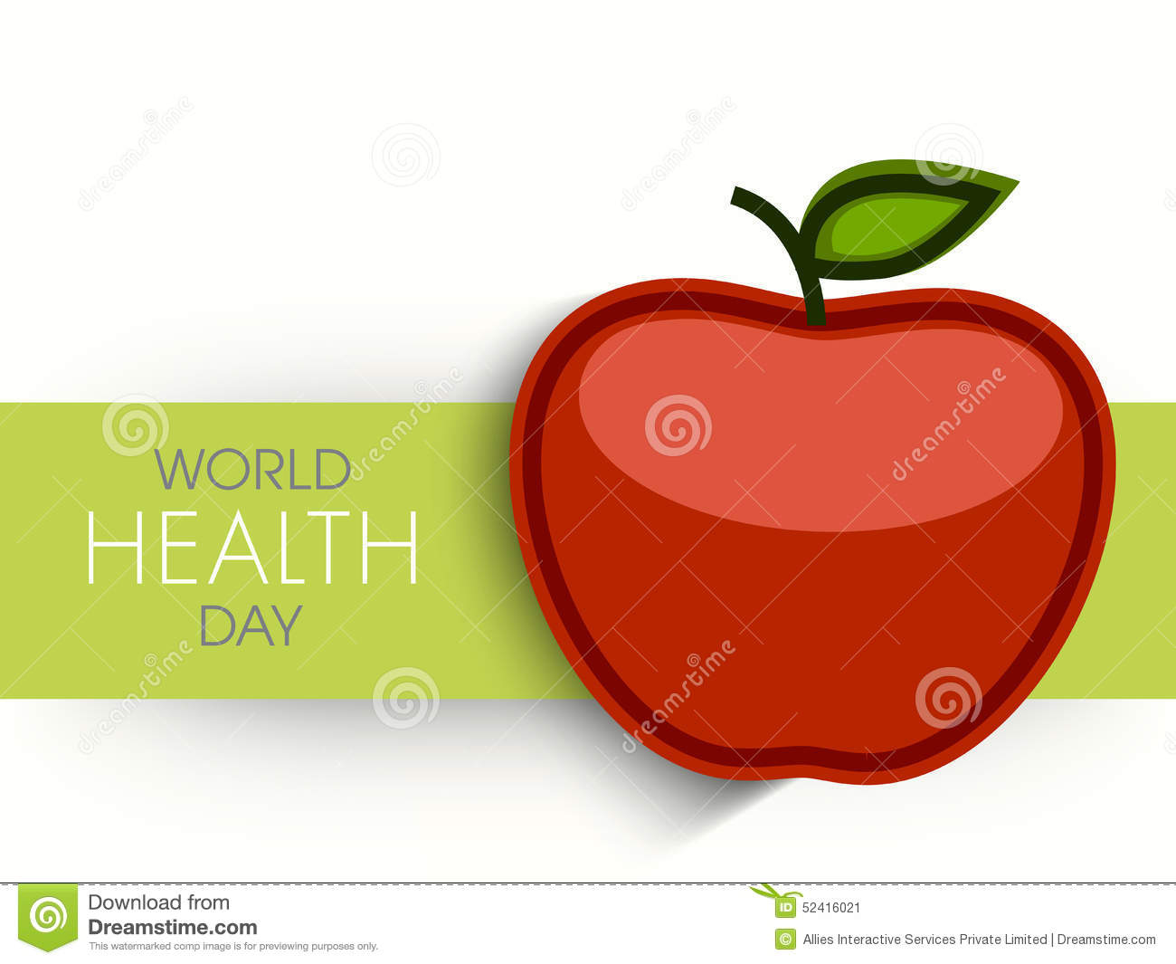 Poster design health - Poster Banner Or Flyer With Apple For World Health Day Stock Image