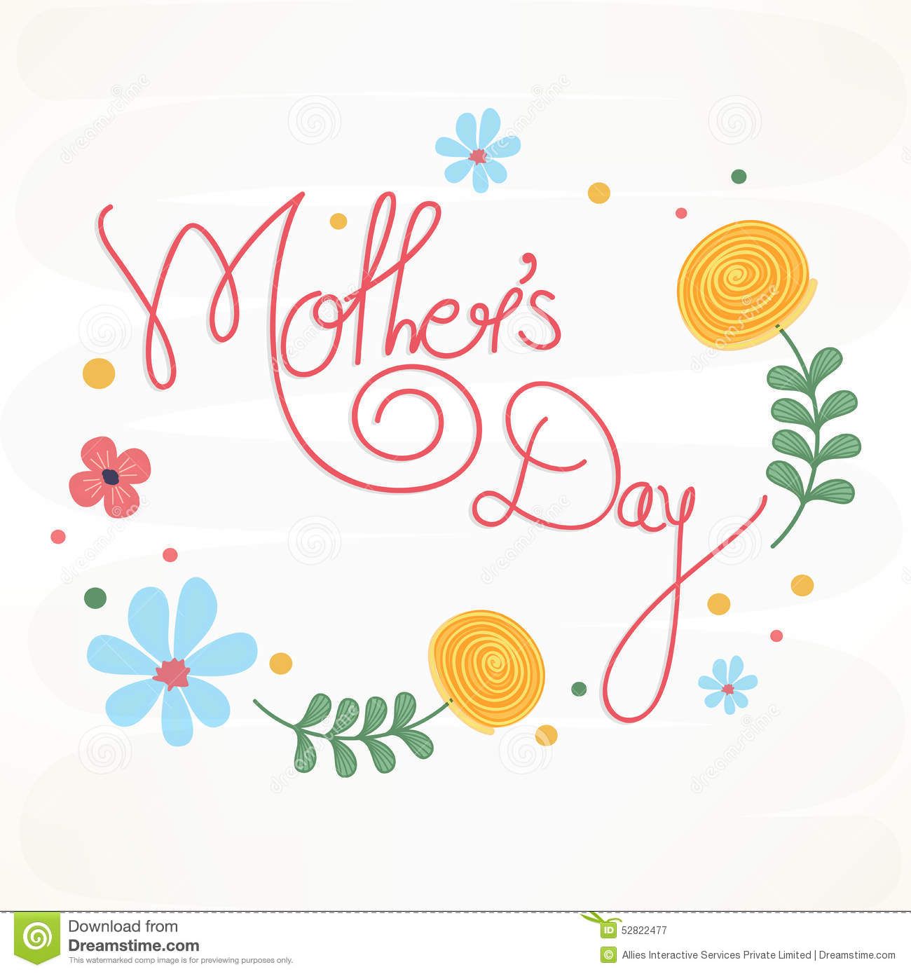 Creative Floral Flyer Of Happy Mothers Day Template For: Poster, Banner Or Flyer For Happy Mothers Day. Stock
