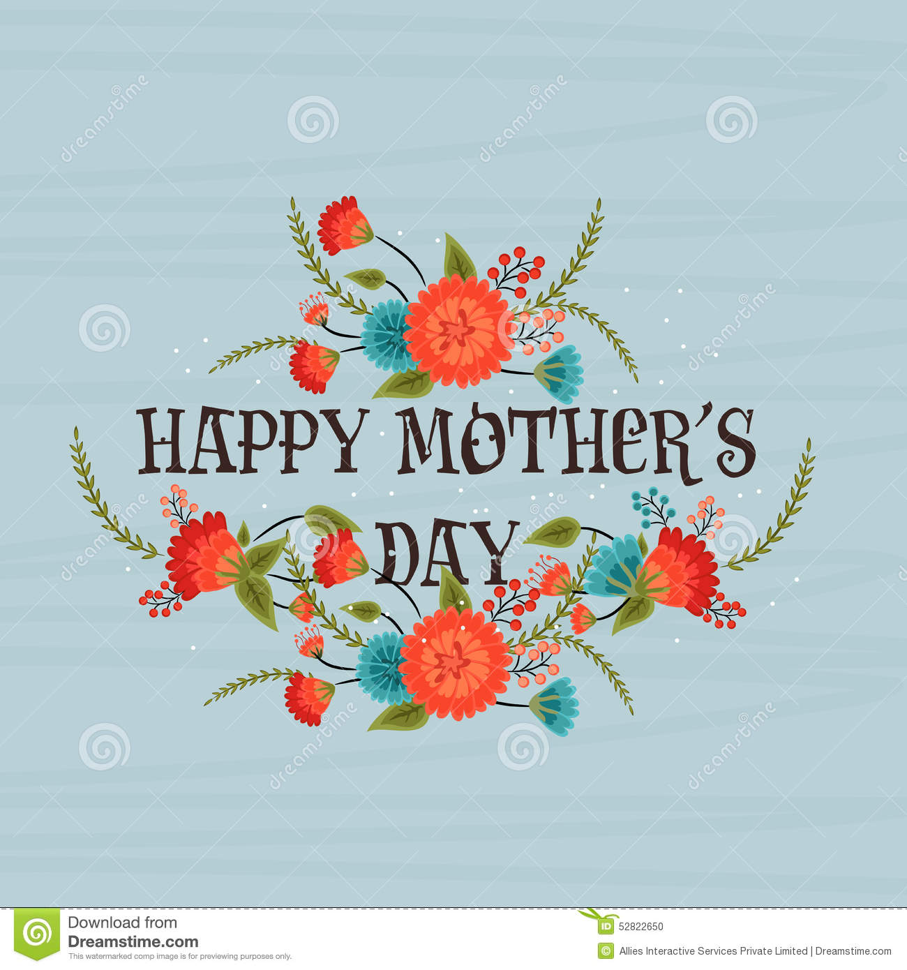 poster  banner or flyer for happy mothers day  stock photo