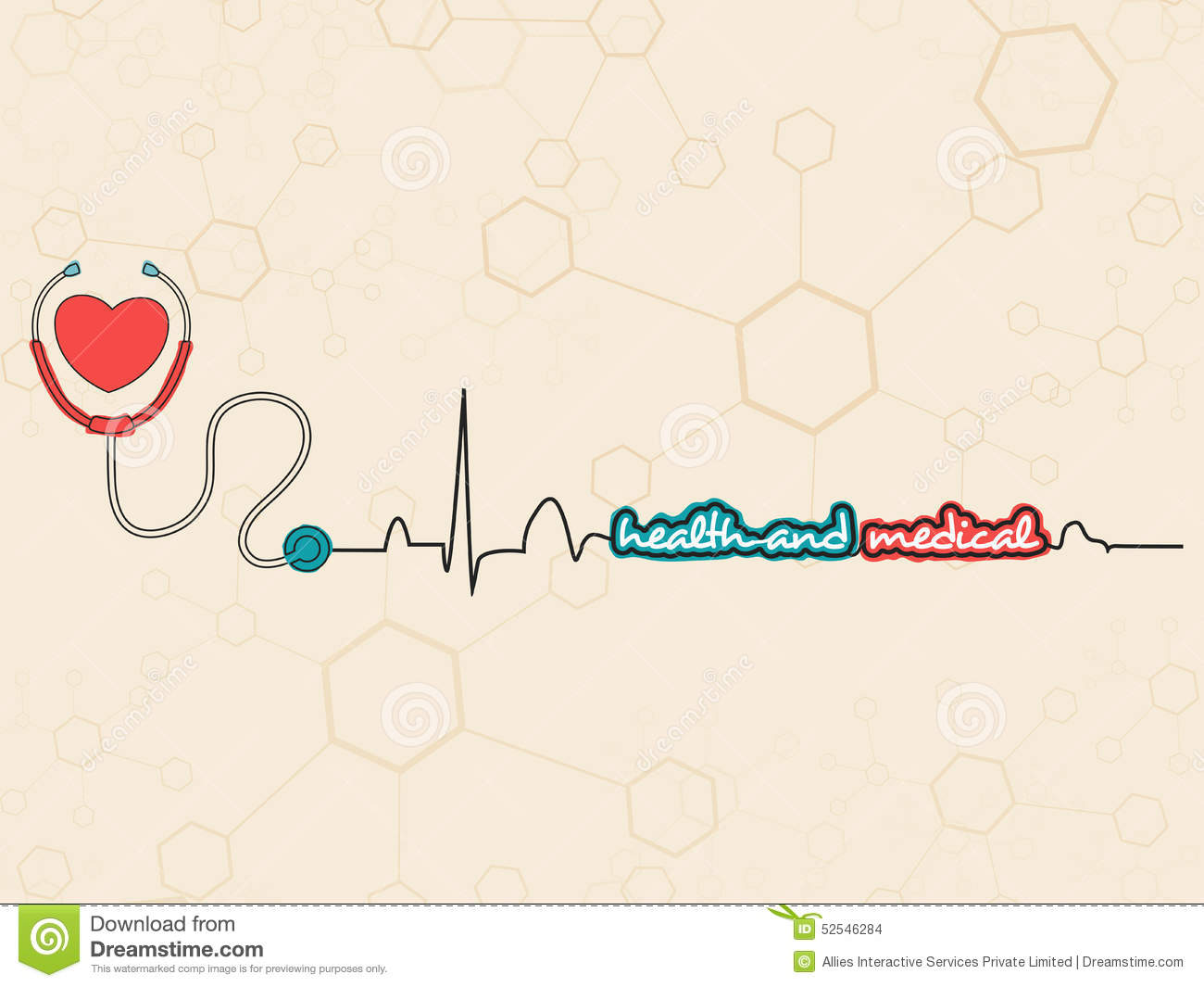 Poster design health - Poster Banner Or Flyer With Heart For Health And Medical Stock Illustration