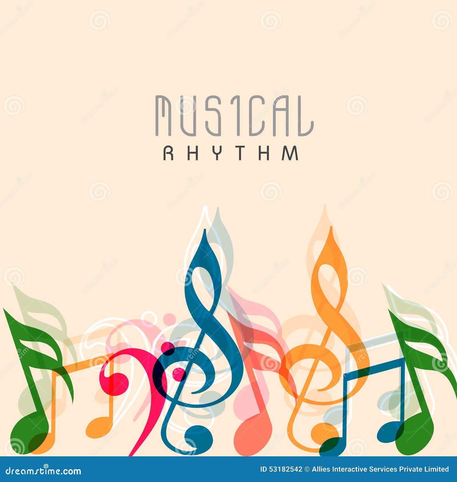 Poster design notes - Banner Colorful Design Flyer Music Musical Notes Poster