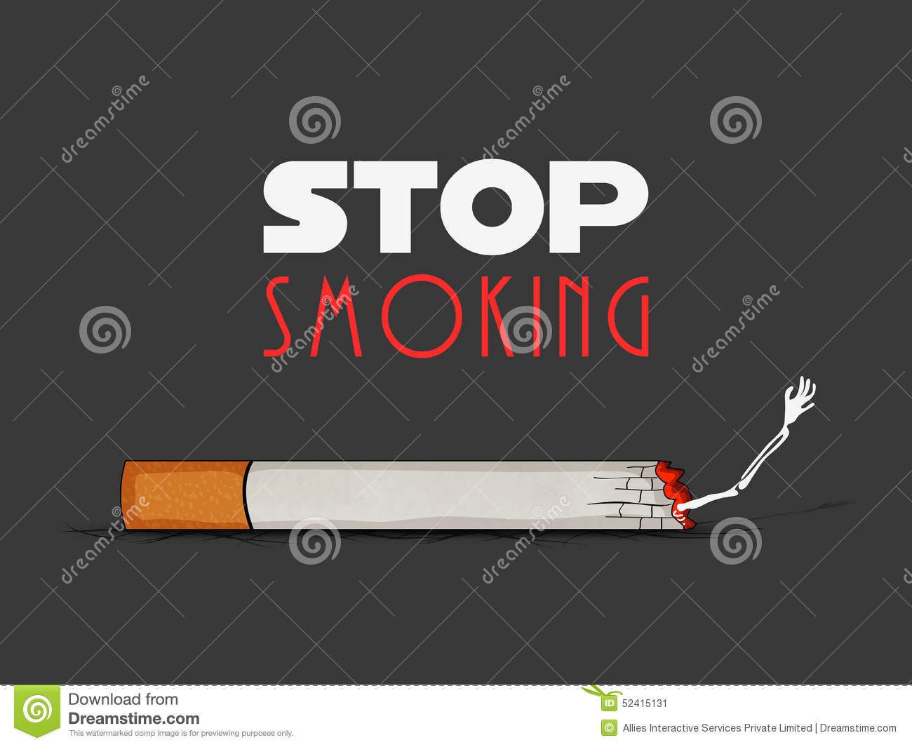 poster  banner or flyer for no smoking day  stock