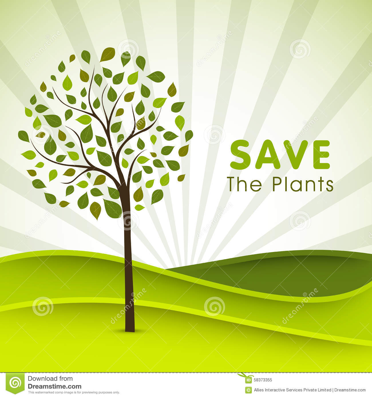 Poster Banner Or Flyer For Save Plants Stock