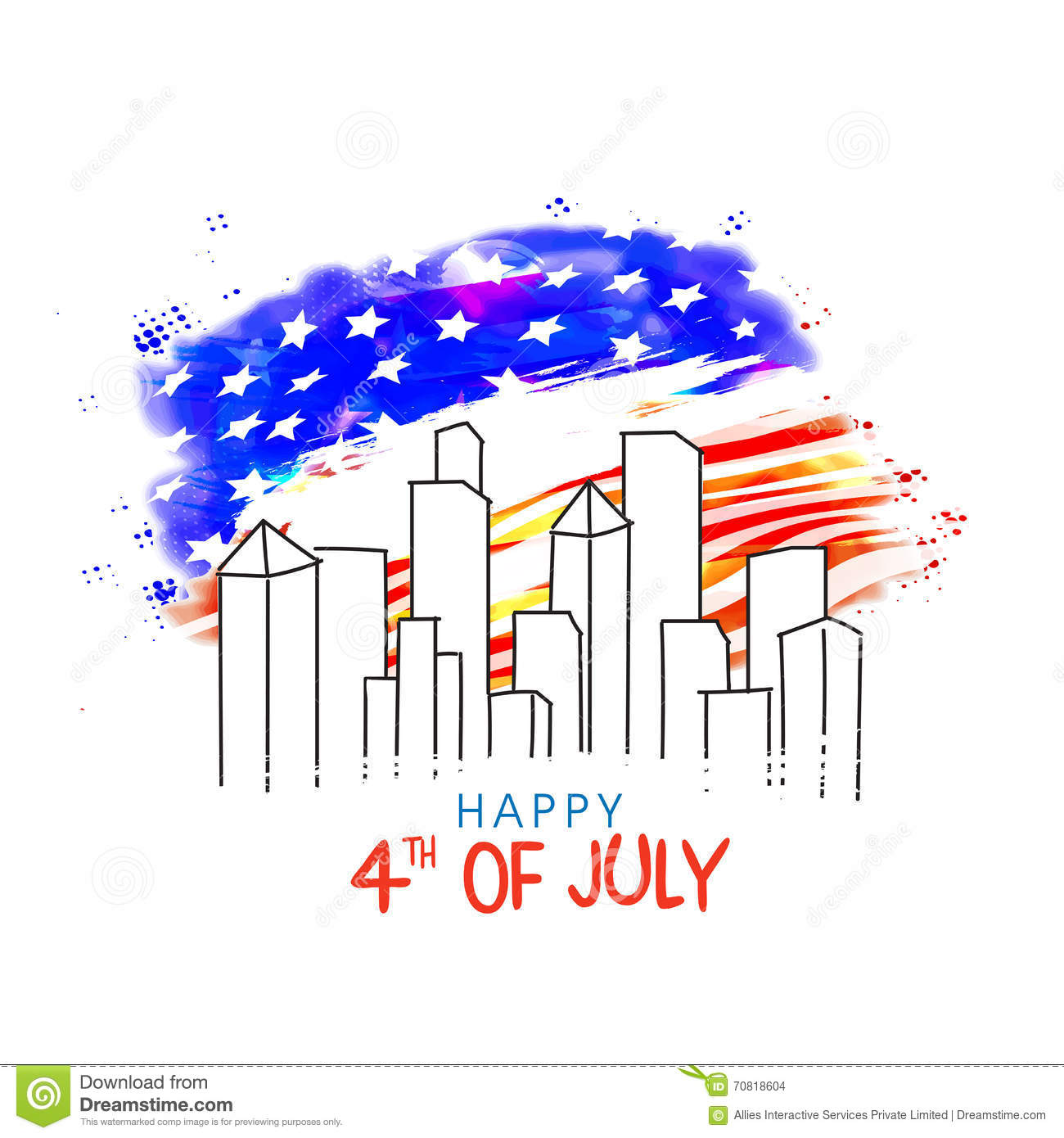 Poster banner or flyer for 4th july celebration stock for Th background color