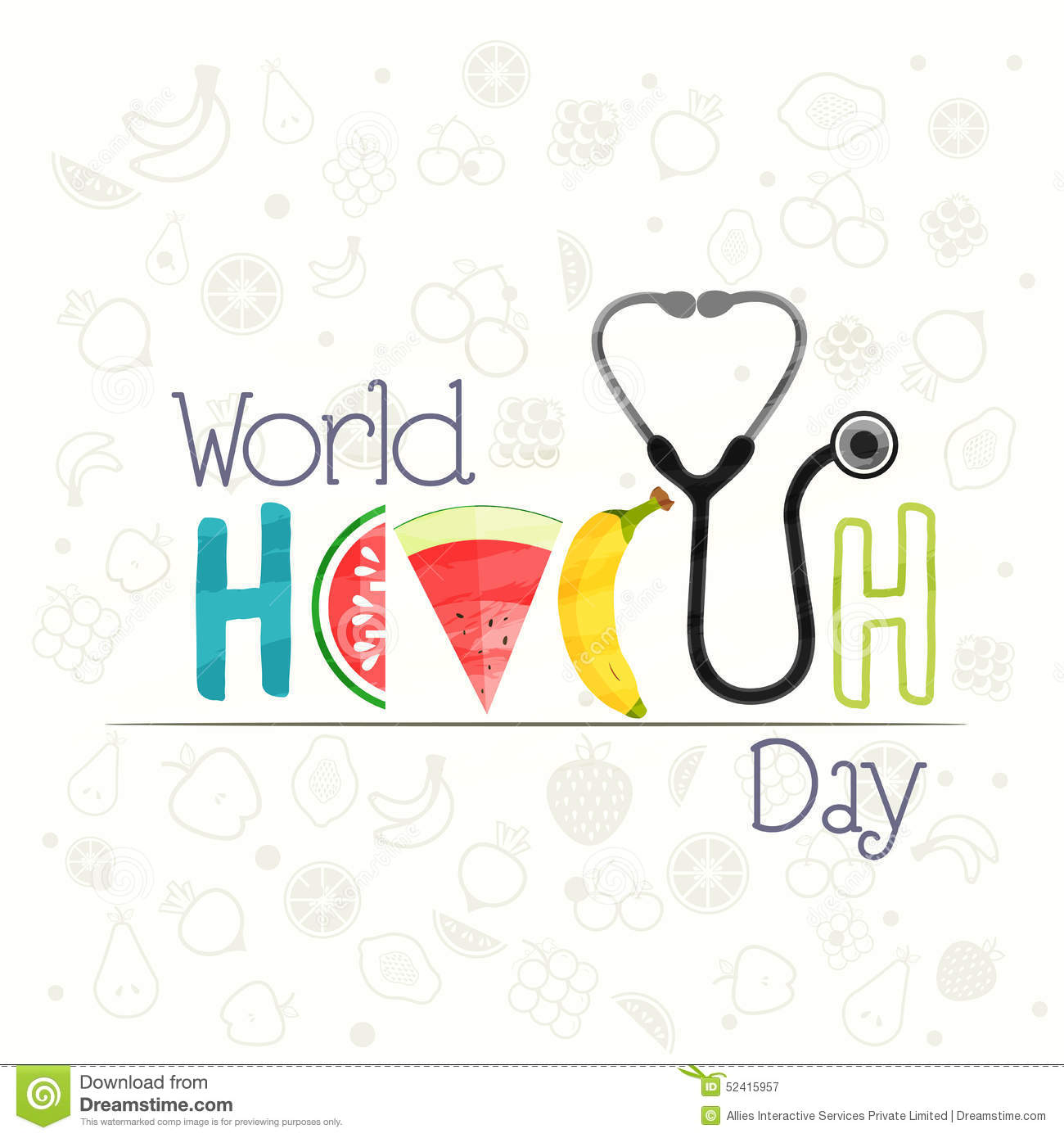 poster banner or flyer for world health day stock