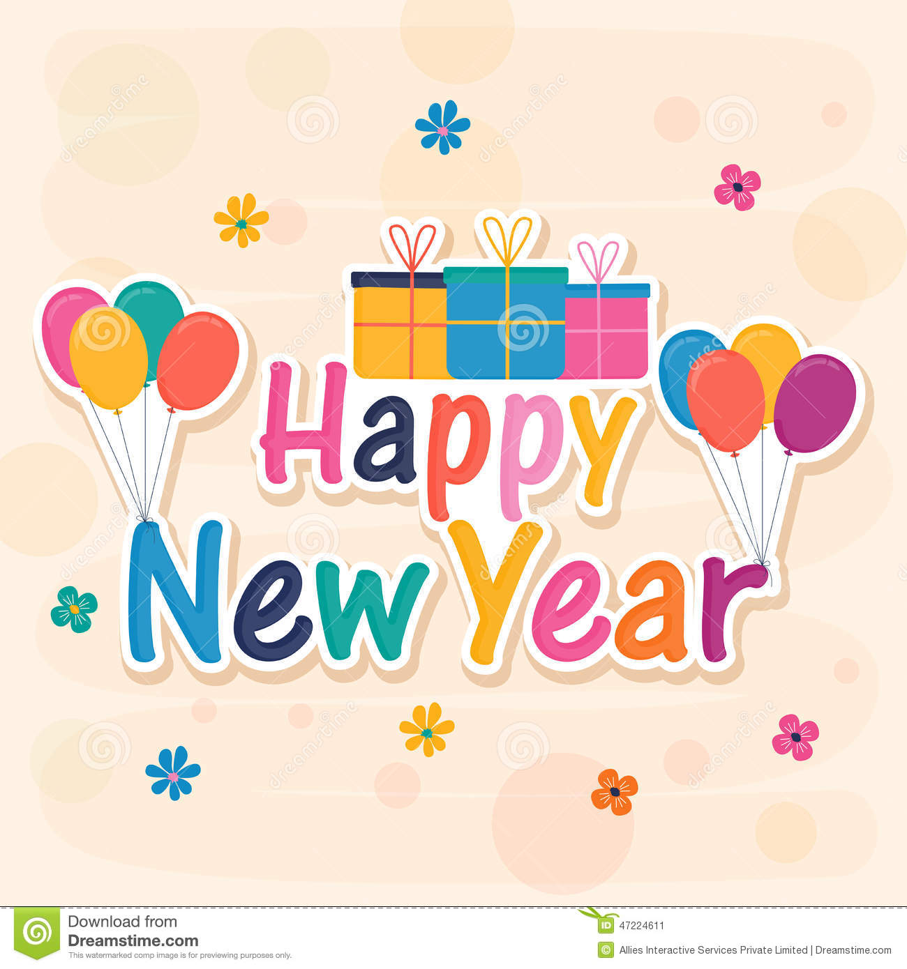 poster or banner for happy new year