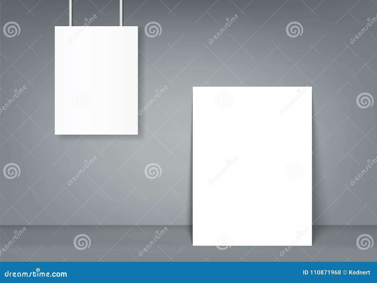 poster blank bi fold brochure mockup cover template stock vector