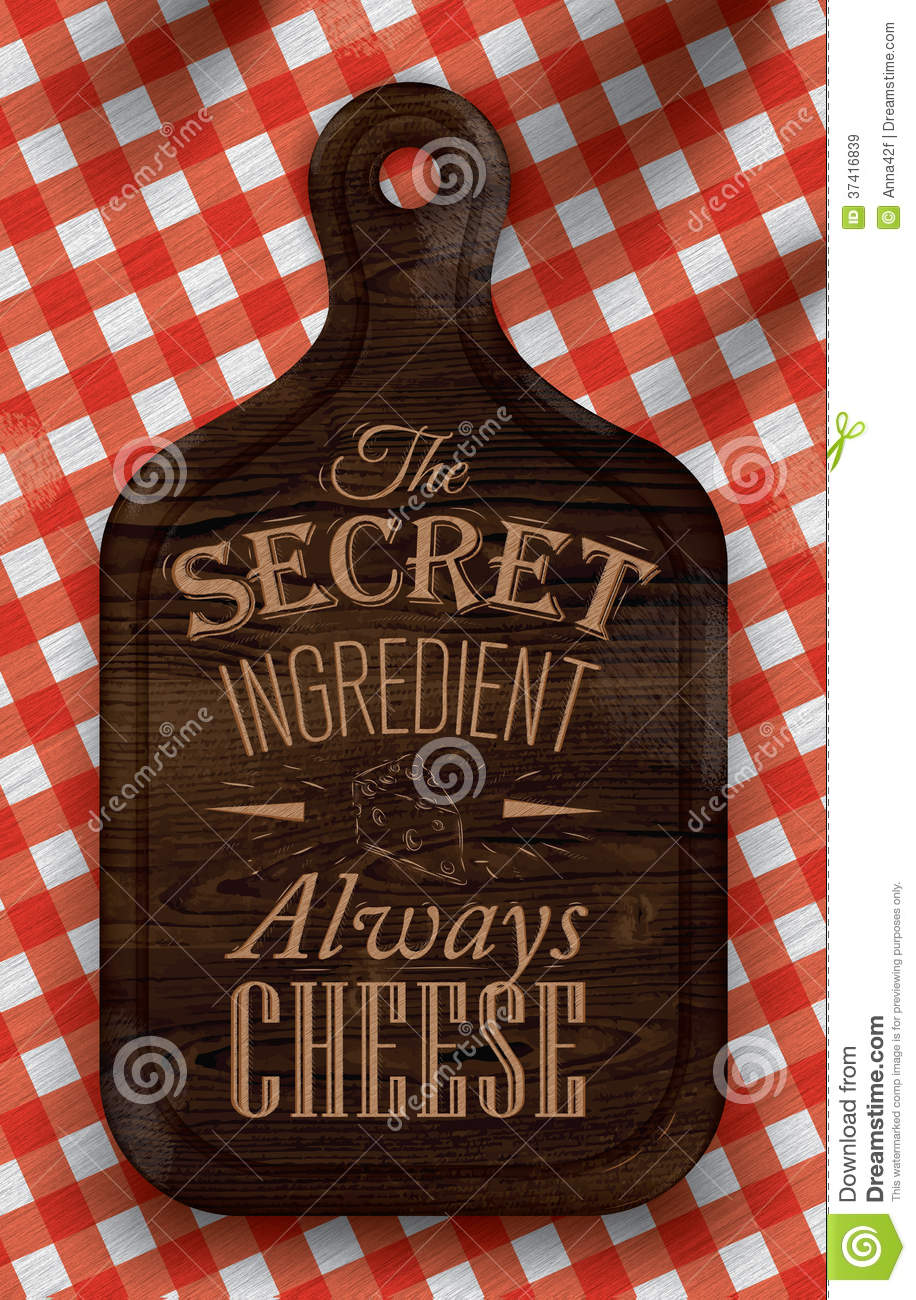 Poster With Bread Cutting Brown Wood Board Letteri Royalty Free Stock ...