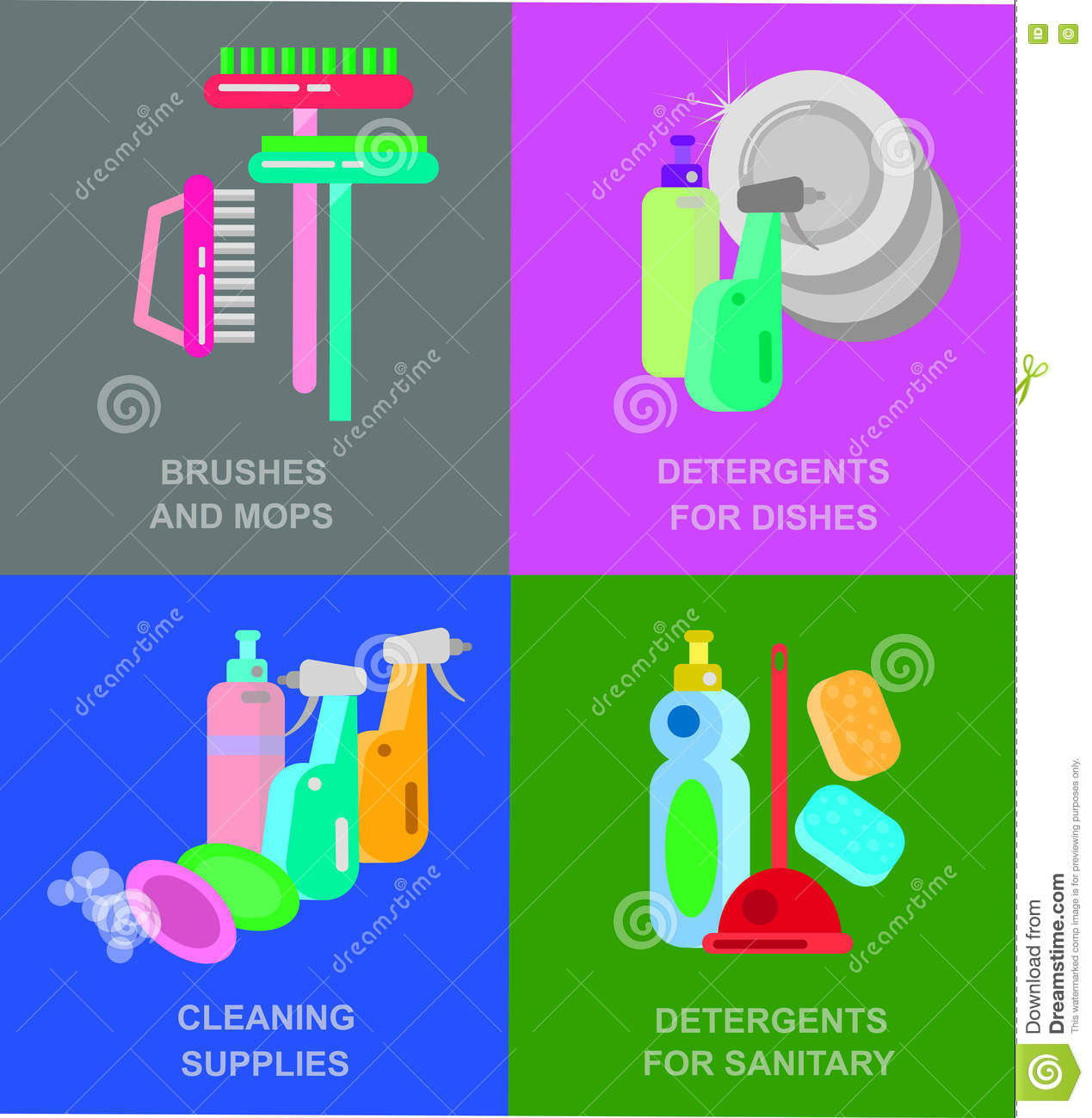 Poster design kit - Poster Design For Cleaning Service Stock Vector