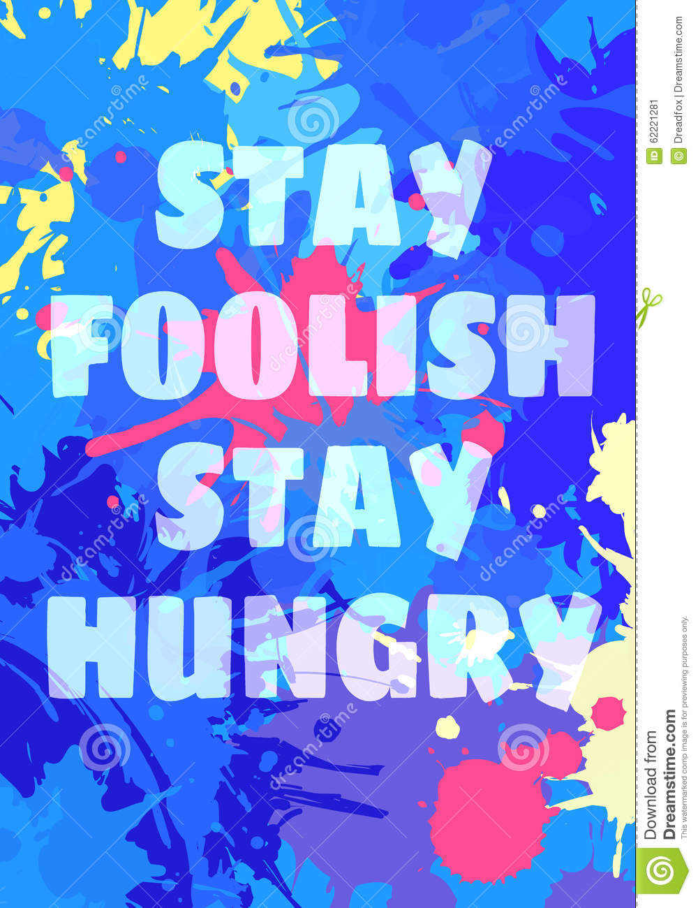 Poster design stay foolish