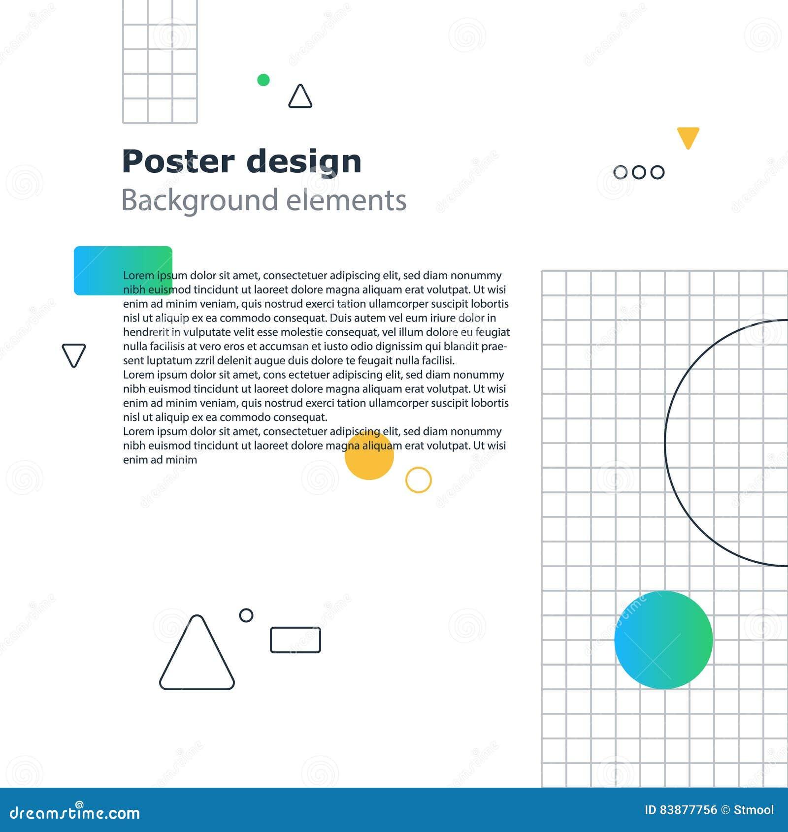 poster design template geometric shapes gradient vector minimal