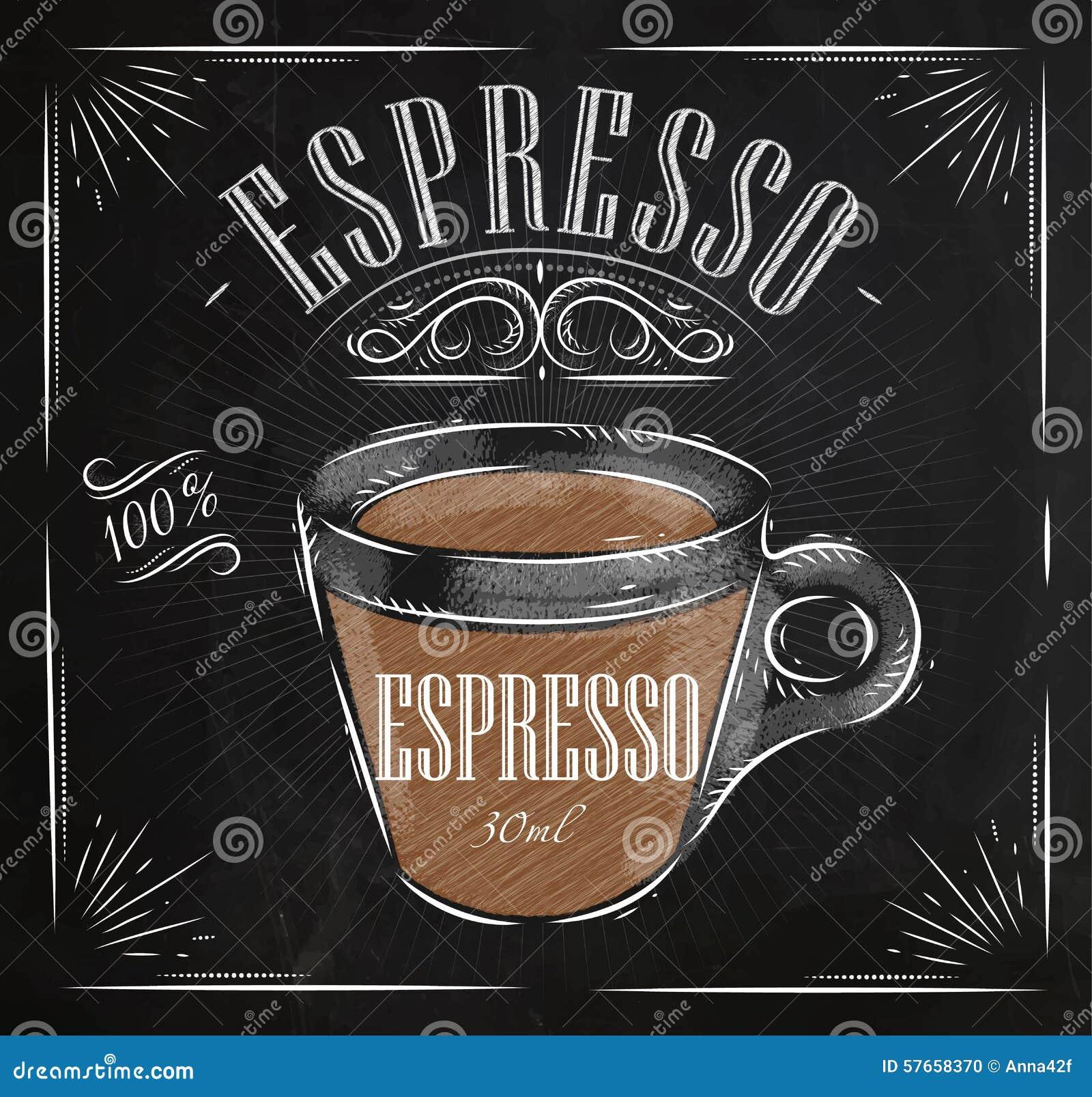 poster espresso chalk stock illustration image 57658370 cup of coffee clipart free cup of coffee clipart black and white