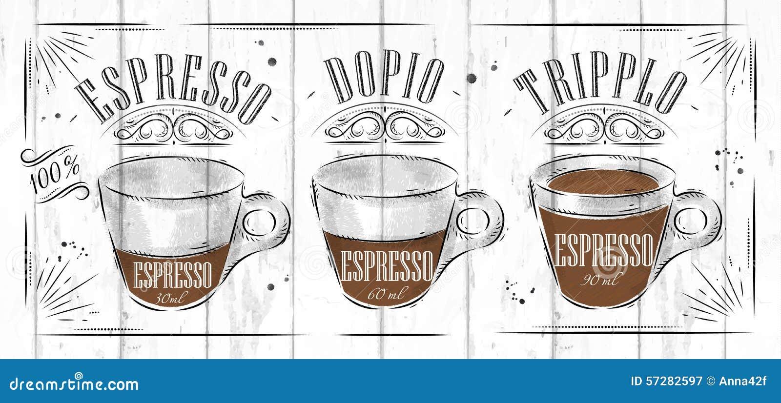 Poster Espresso Stock Vector - Image: 57282597