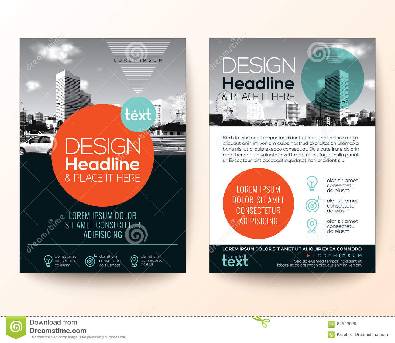 Poster Flyer Pamphlet Brochure Cover Design Layout Stock Vector ...