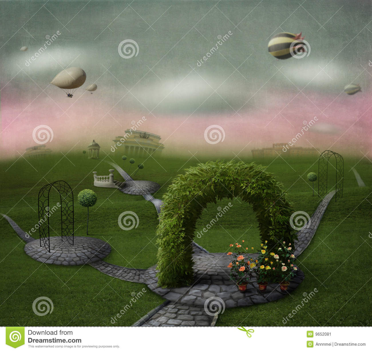 Poster Green World Stock Image - Image: 9652081