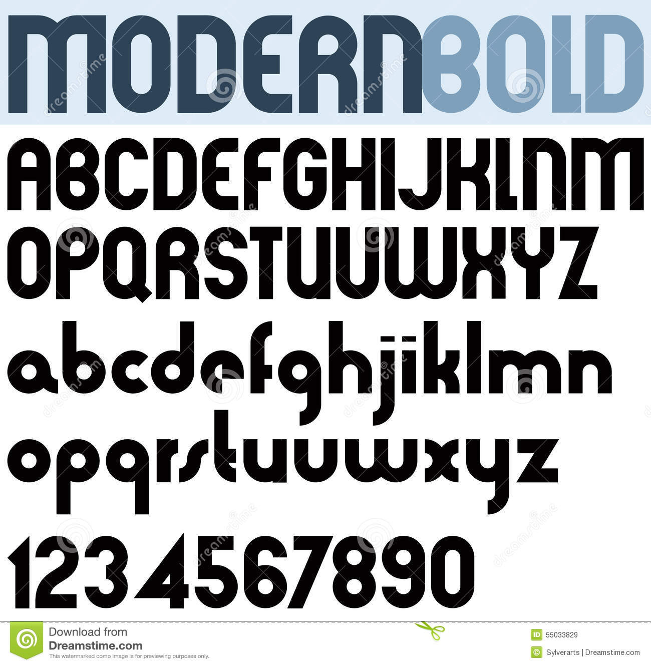 Poster modern bold black font and numbers
