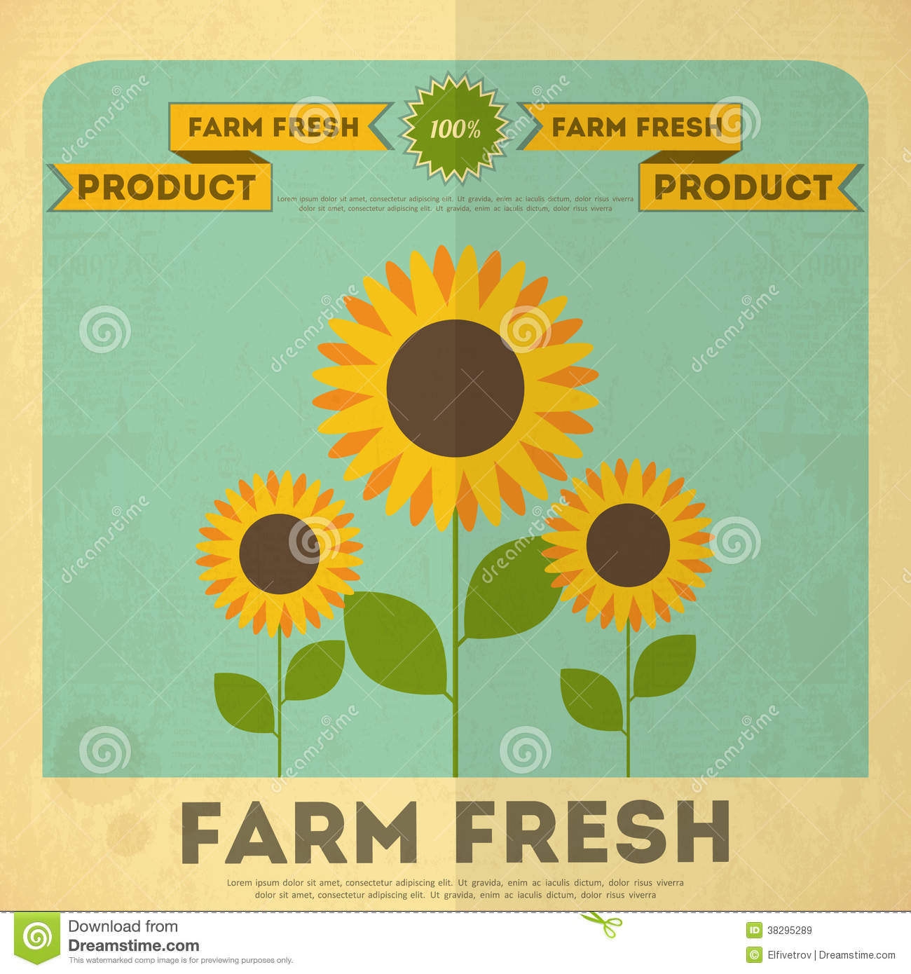 Poster For Organic Farm Food Royalty Free Stock Images ...