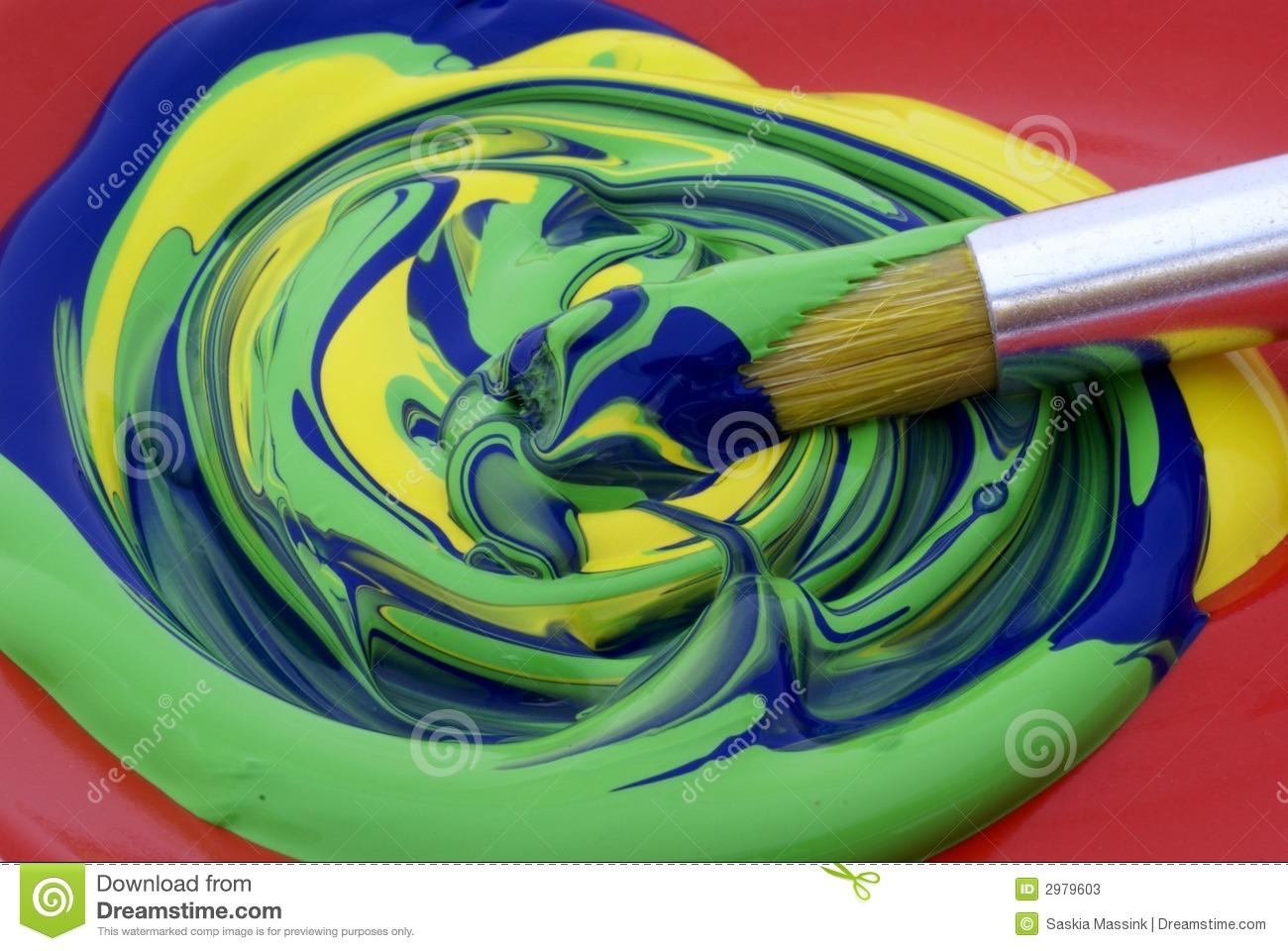 Poster Paint, Mixed Colors. Stock Photos - Image: 2979603