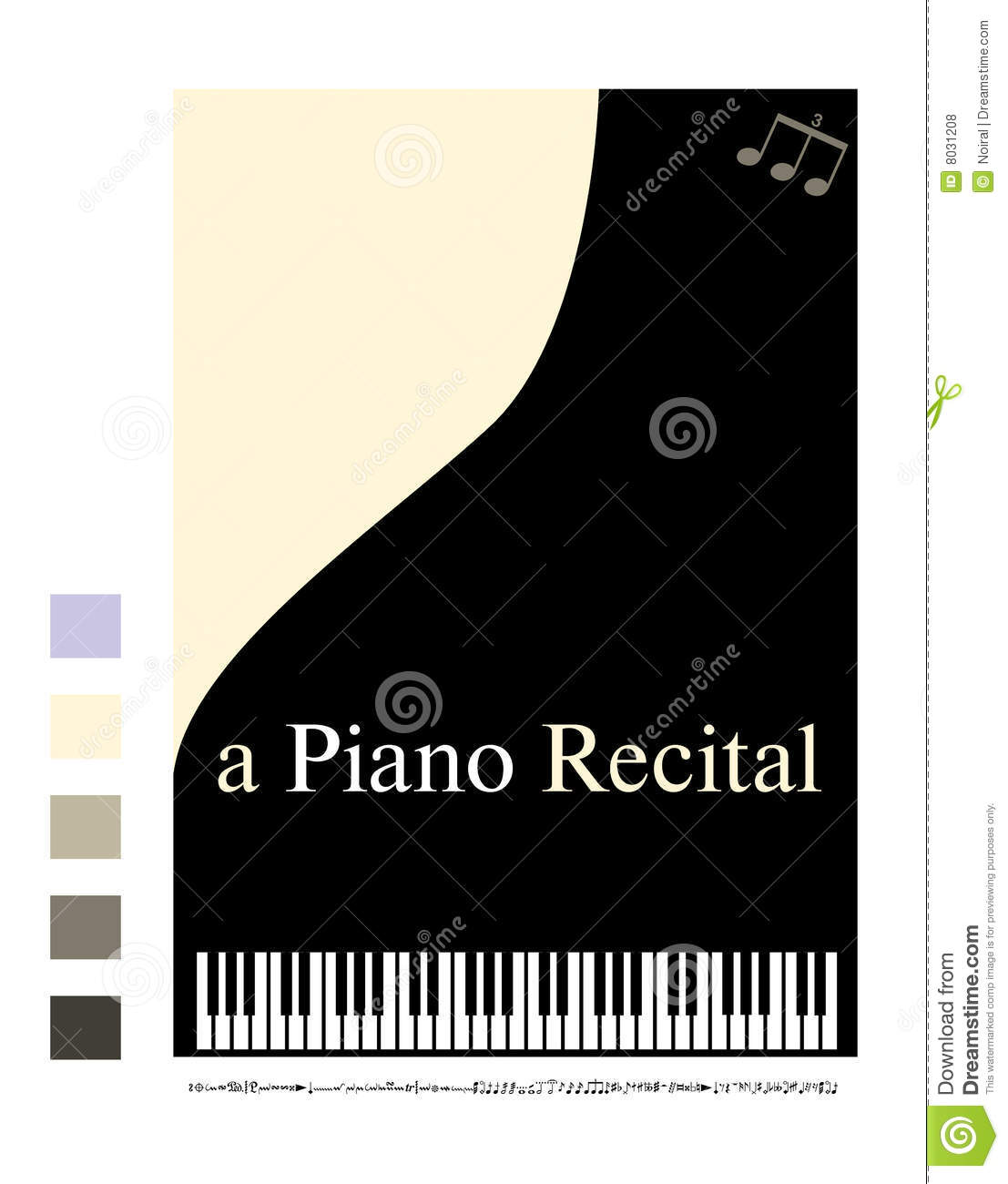 Poster For A Piano Recital Stock Vector Illustration Of Musical