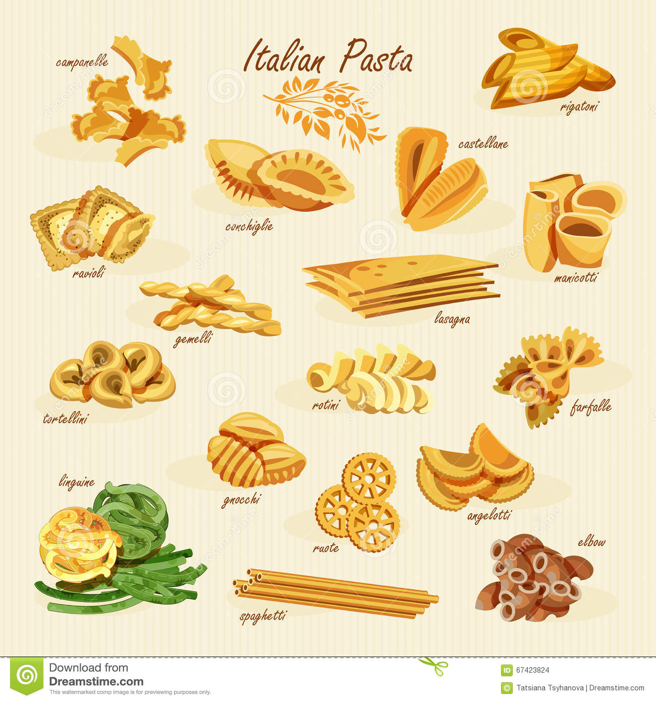 Poster Pasta Vintage Stock Vector - Image: 47876146