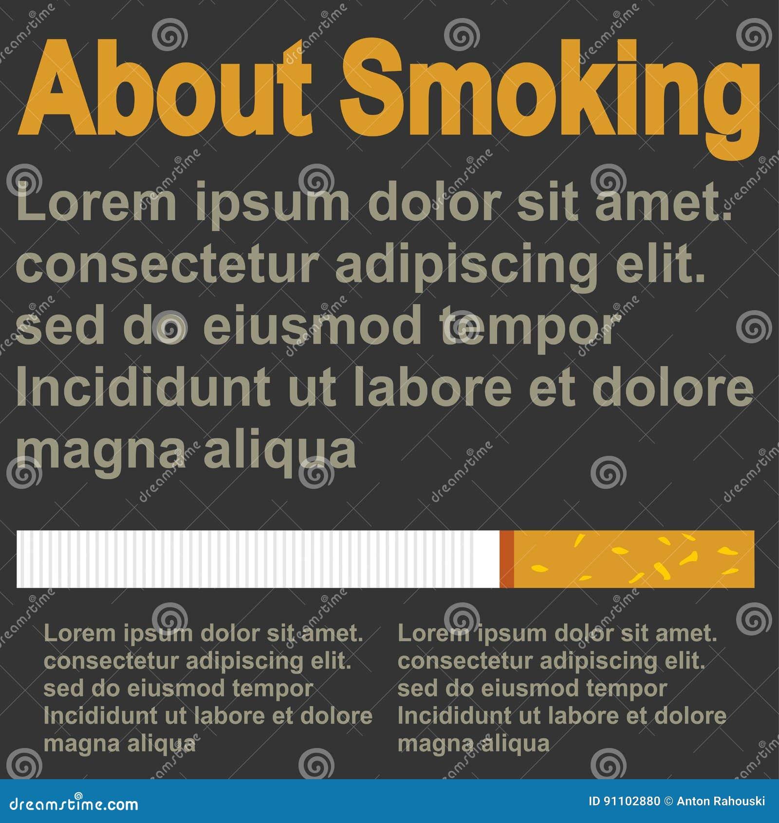 Poster About Smoking Flat Design Template Stock Illustration Illustration Of Pattern Cigarette 91102880