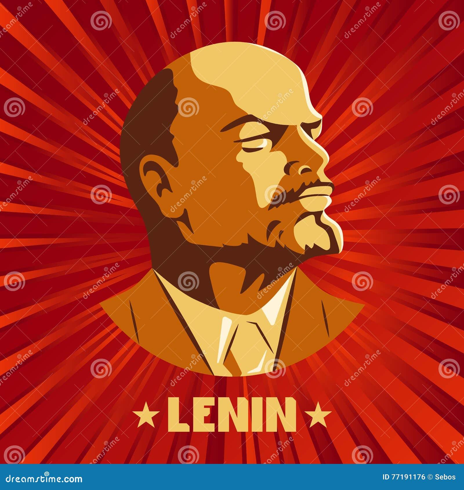 Poster Stylized Soviet Style Leader Ussr Russian Revolutionary Symbol