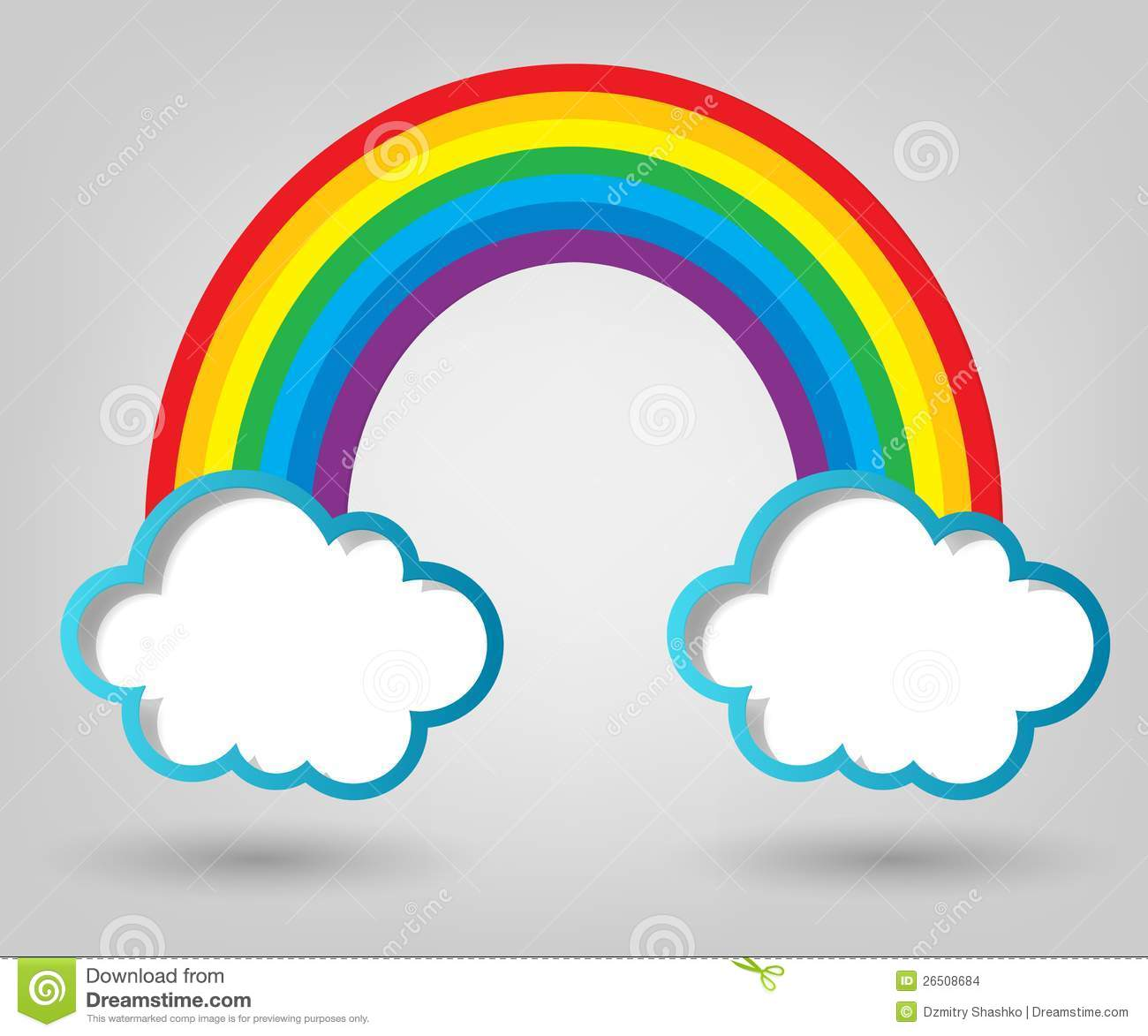 Poster Template. Clouds And Rainbow Stock Images