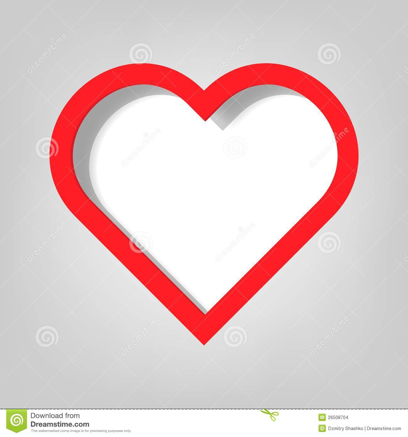 Red Heart Template Poster template. heart