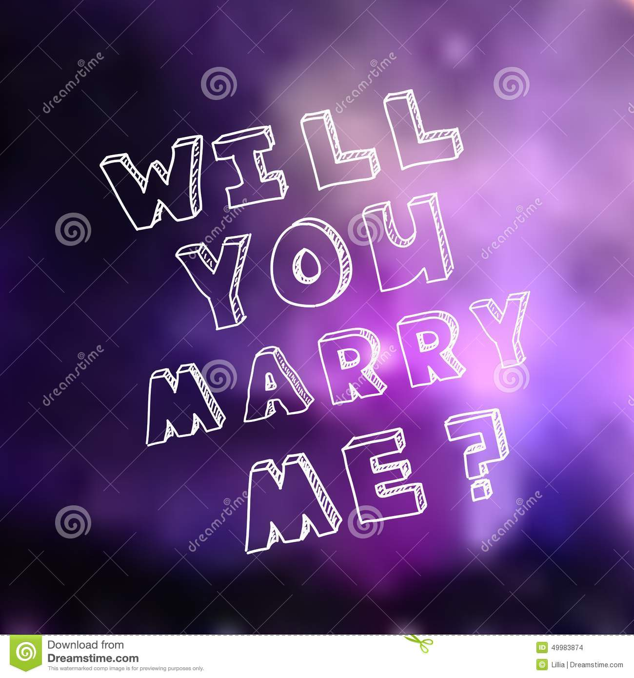 Poster Template For Marriage Proposal Design Stock Vector ...