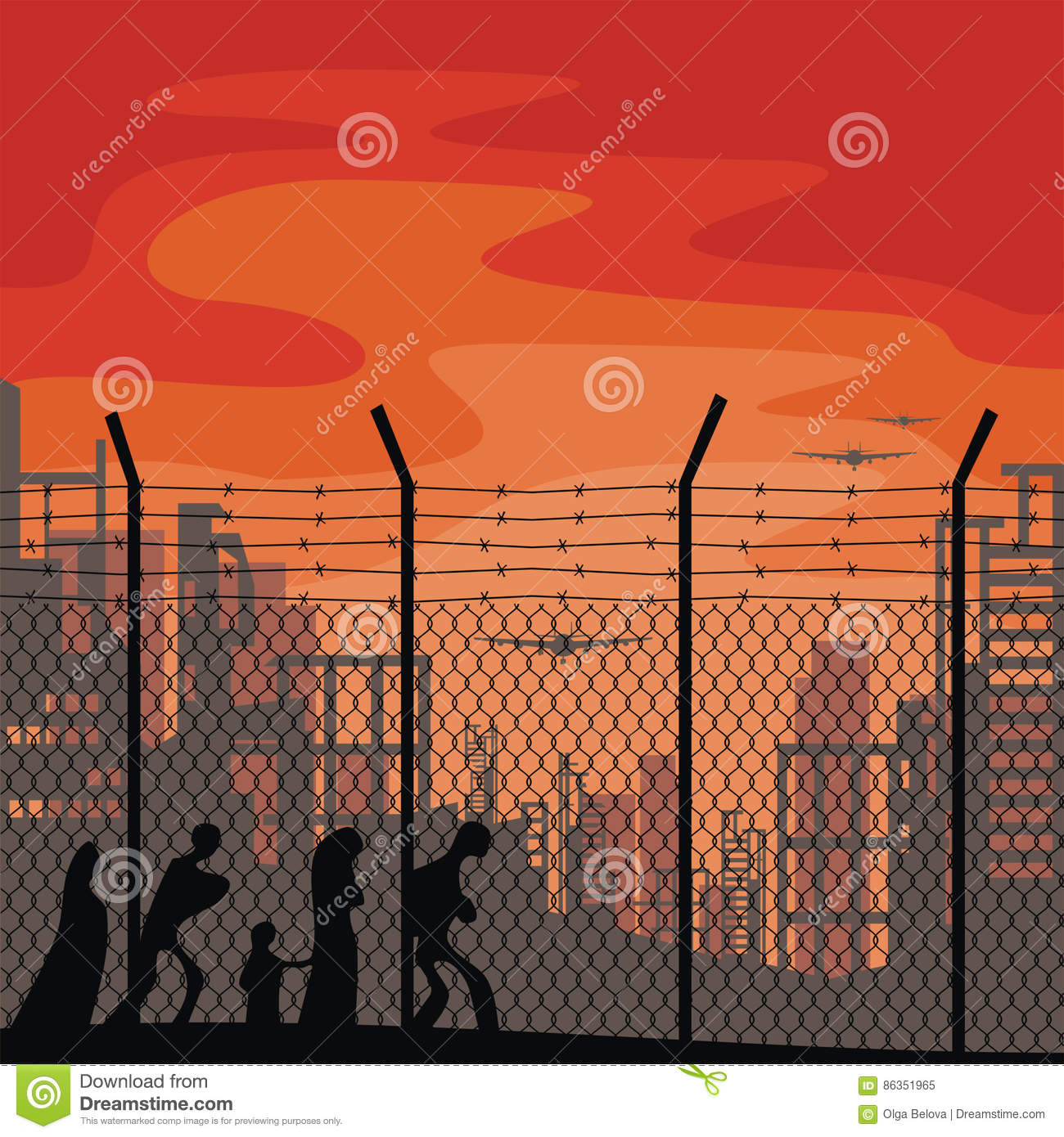 poster template about refugees stock vector illustration of