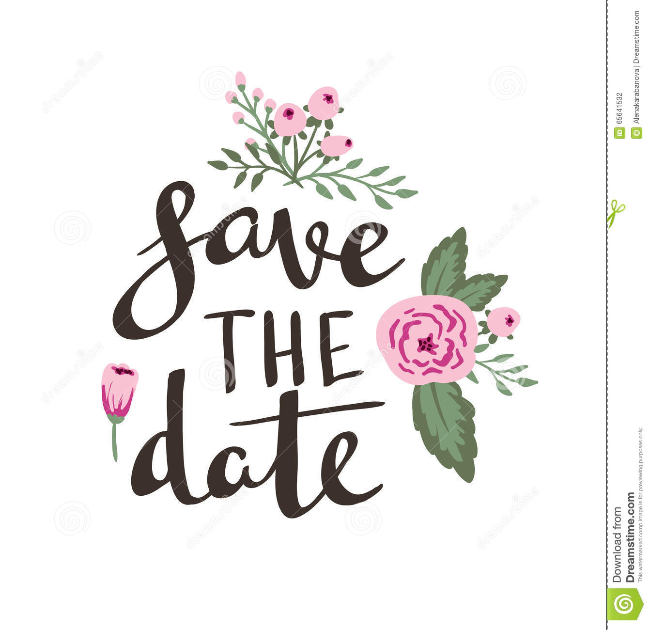 Poster Template Save The Date Wedding Marriage Save The Date