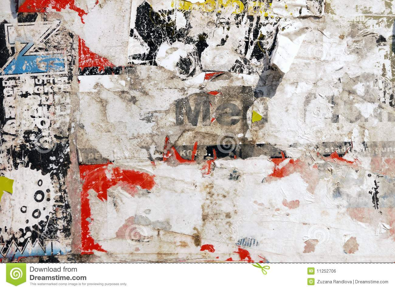 Royalty Free Stock Photo  Download Poster wall. Poster wall stock photo  Image of abstract  painting   11252706