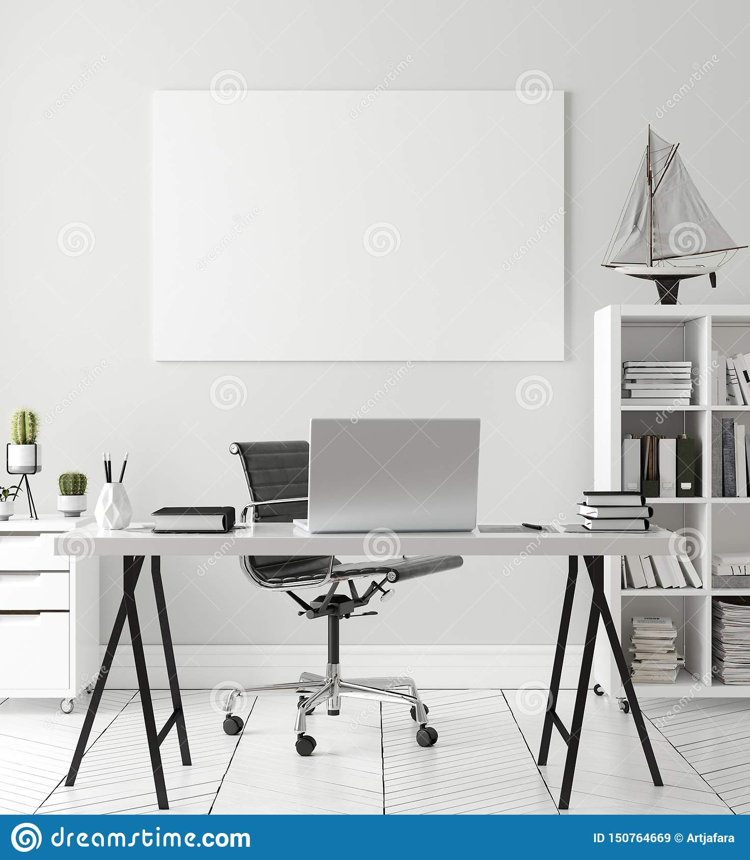 Poster Wall Mock Up In Home Interior Background Home Office Scandinavian Style Stock Illustration Illustration Of Stool Loft 150764669,Best Tiny House Designs