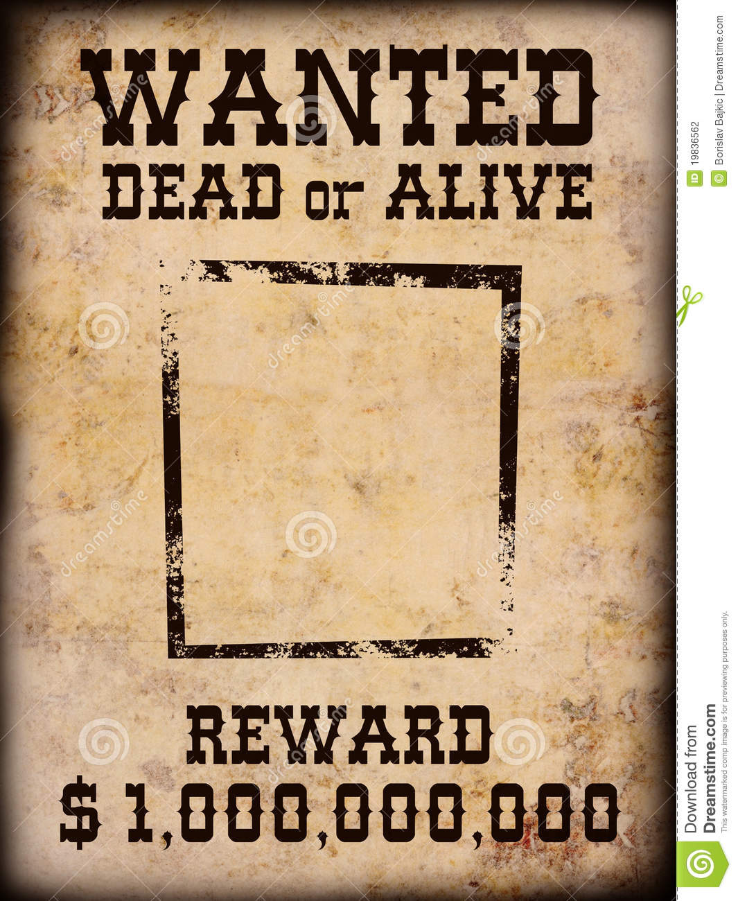 Free Western Wanted Poster Template Poster Wanted 19836562 Free Western Wanted  Poster Template  Most Wanted Sign Template
