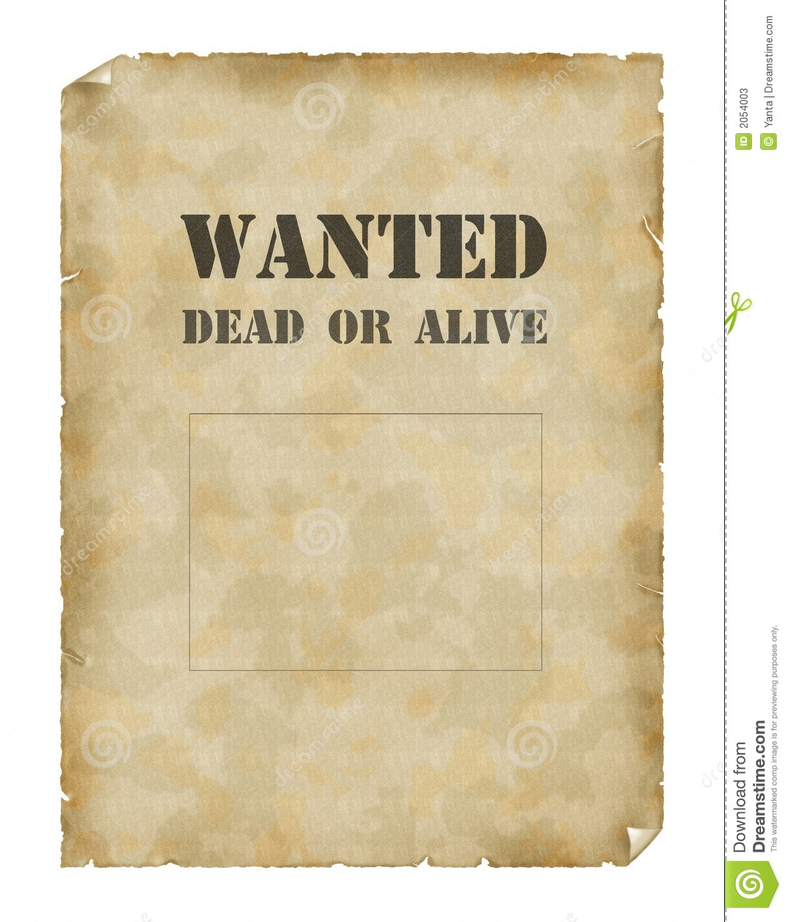 Poster Wanted Dead Or Alive Stock Photos - Image: 2054003