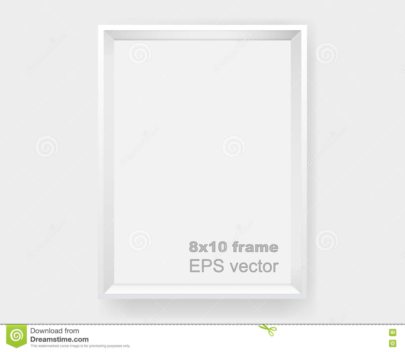 Poster With White Frame Mockup On Grey Wall, Realistic Empty Frame ...