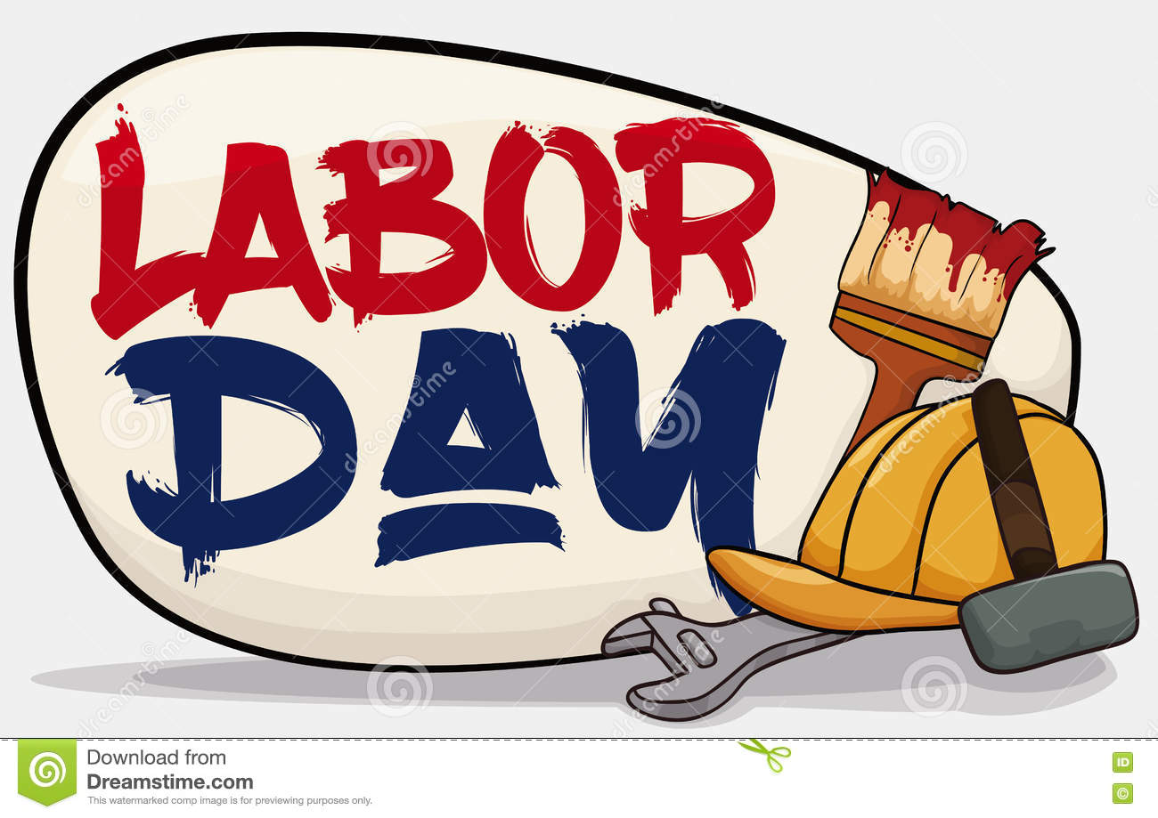 Poster with worker equipment to celebrate labor day vector poster with worker equipment to celebrate labor day vector illustration kristyandbryce Image collections