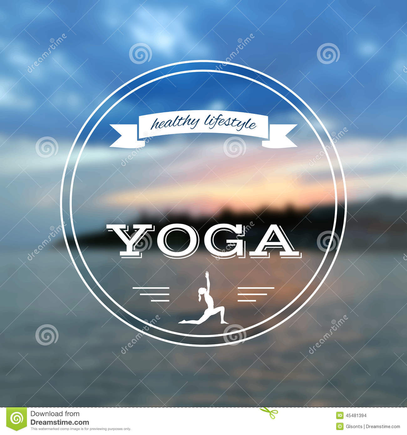 Poster design yoga - Poster For Yoga Class With A Sea View Eps Jpg Stock Vector