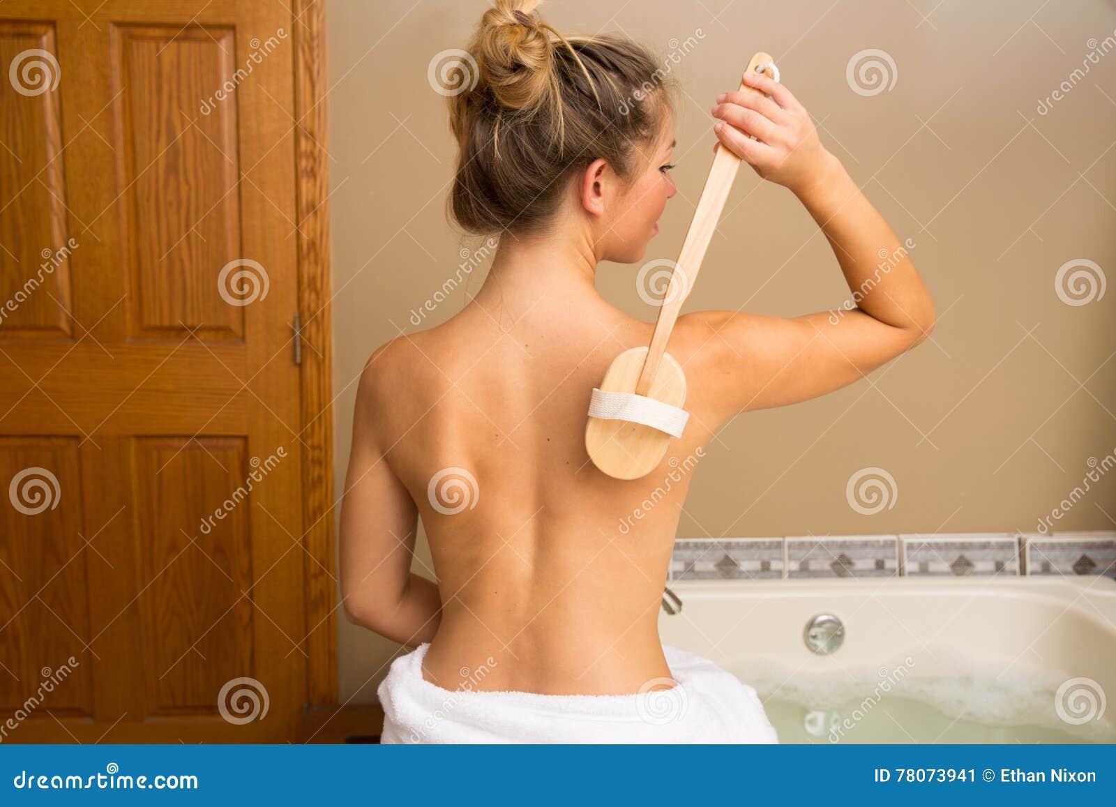 Posteriore asciughi la spazzola