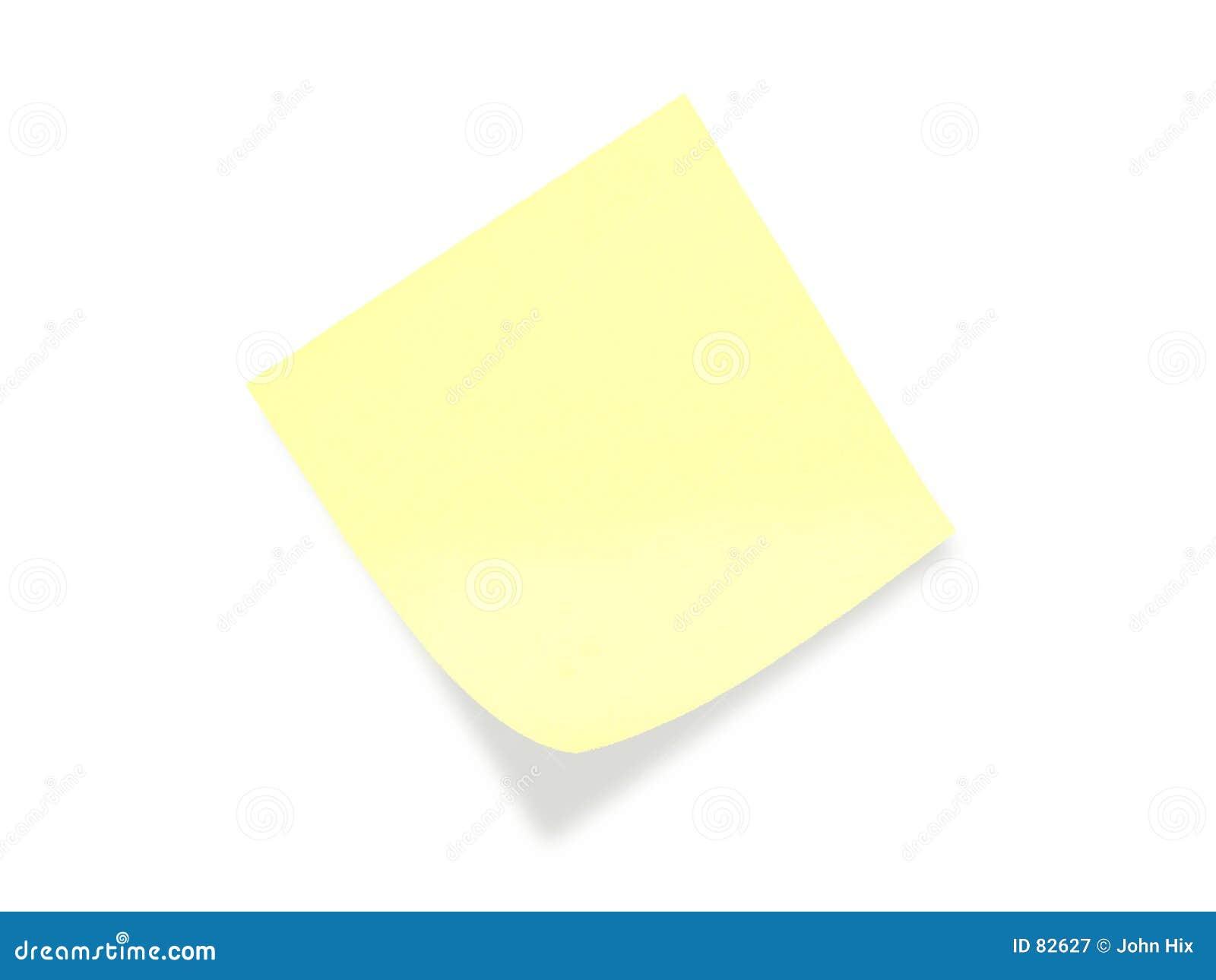 Postit σημειώσεων κίτρινο